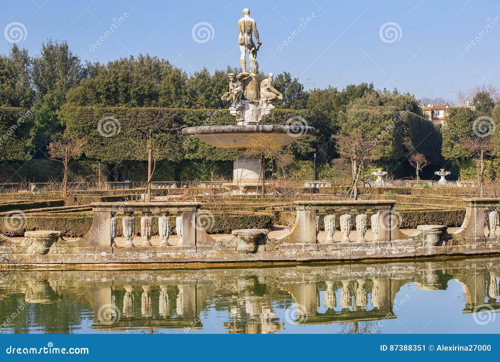 Fontane Da Giardino Firenze.Oceano Della Fontana Da Giambologna Nei Giardini Di Boboli