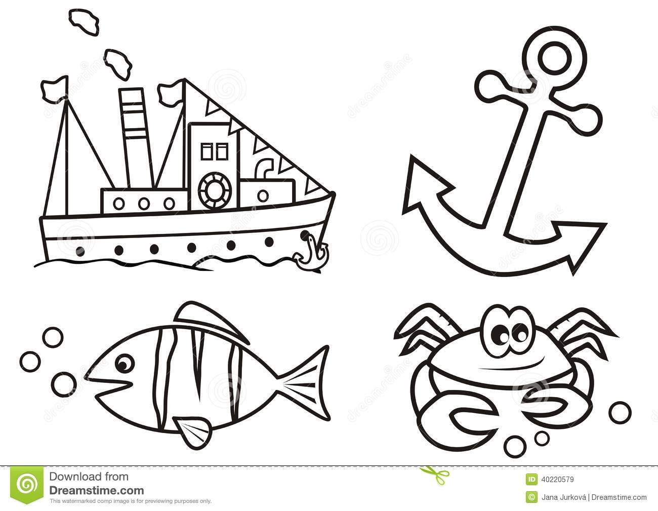 Anchor Coloring Pages Free