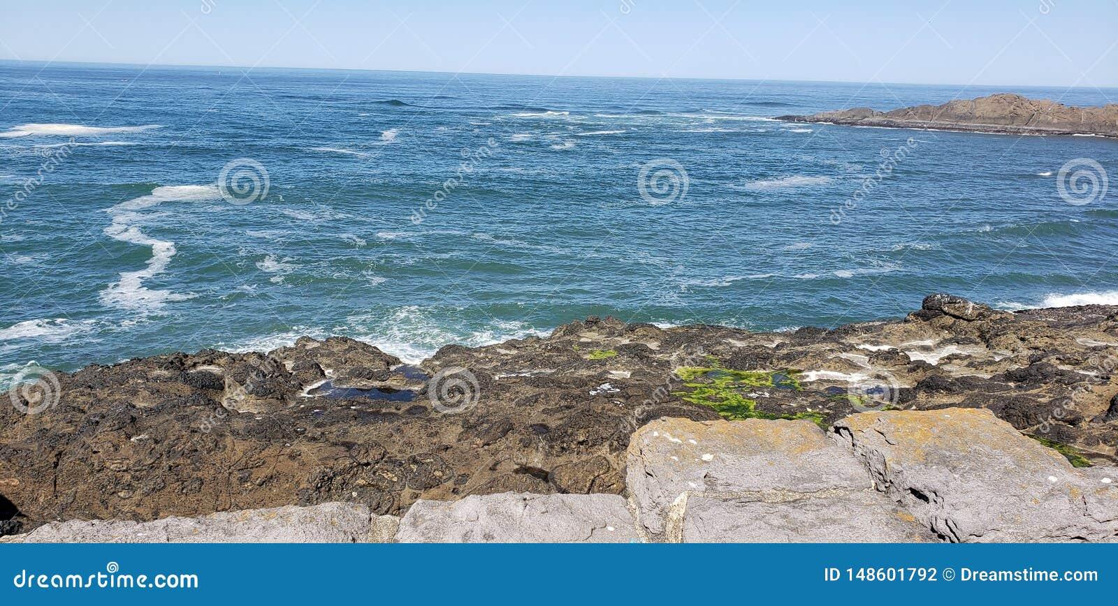 Oceano Pacifico dalla baia di Depoe