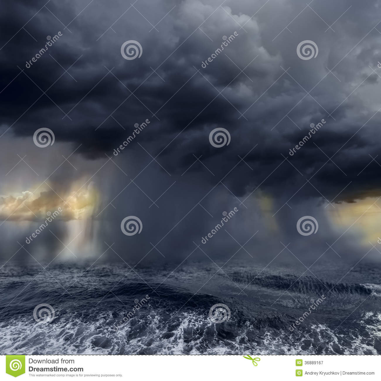 Download Oceano tempestoso immagine stock. Immagine di uragano - 36889167
