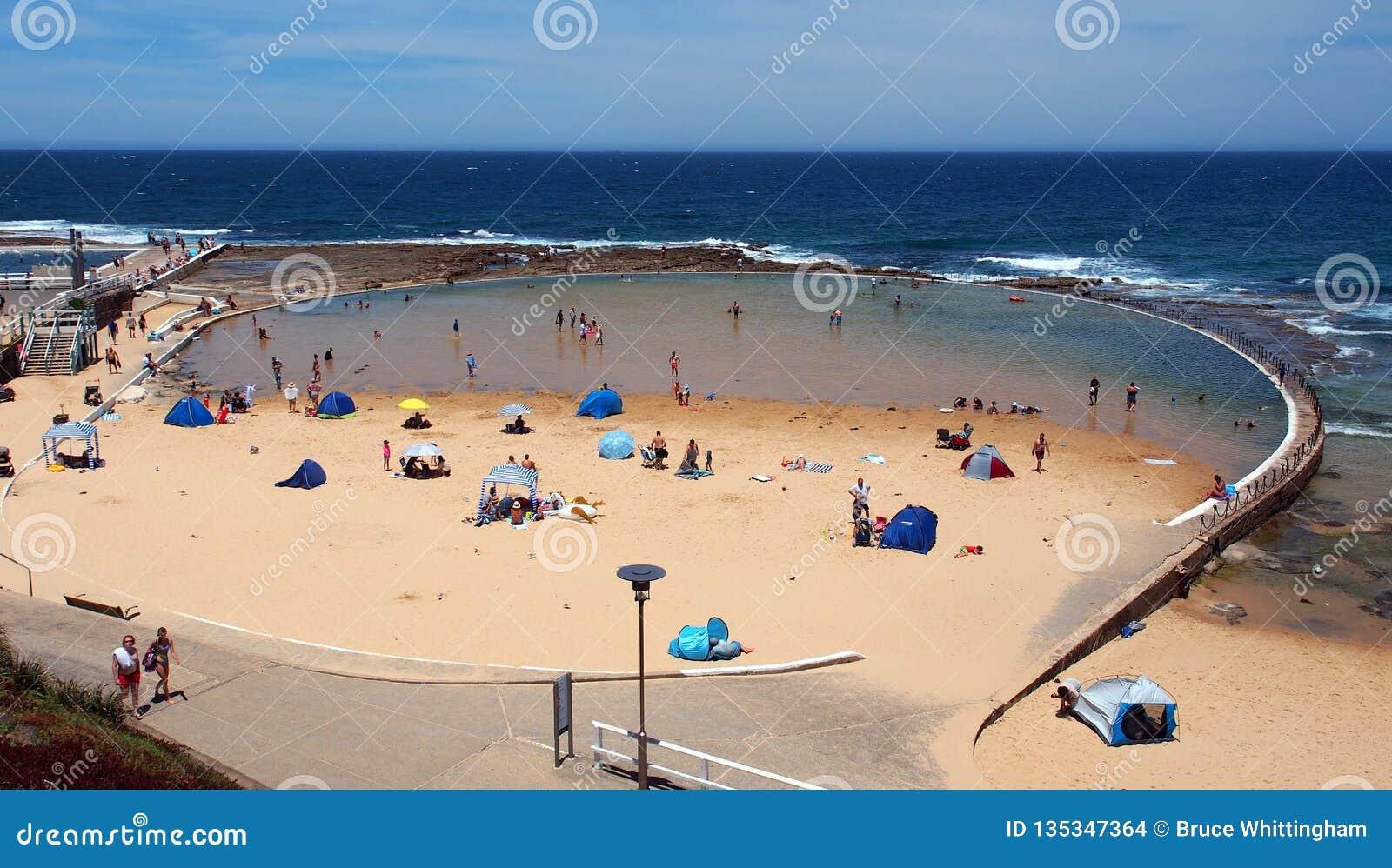 Oceanu basen, Newcastle plaża, NSW, Australia
