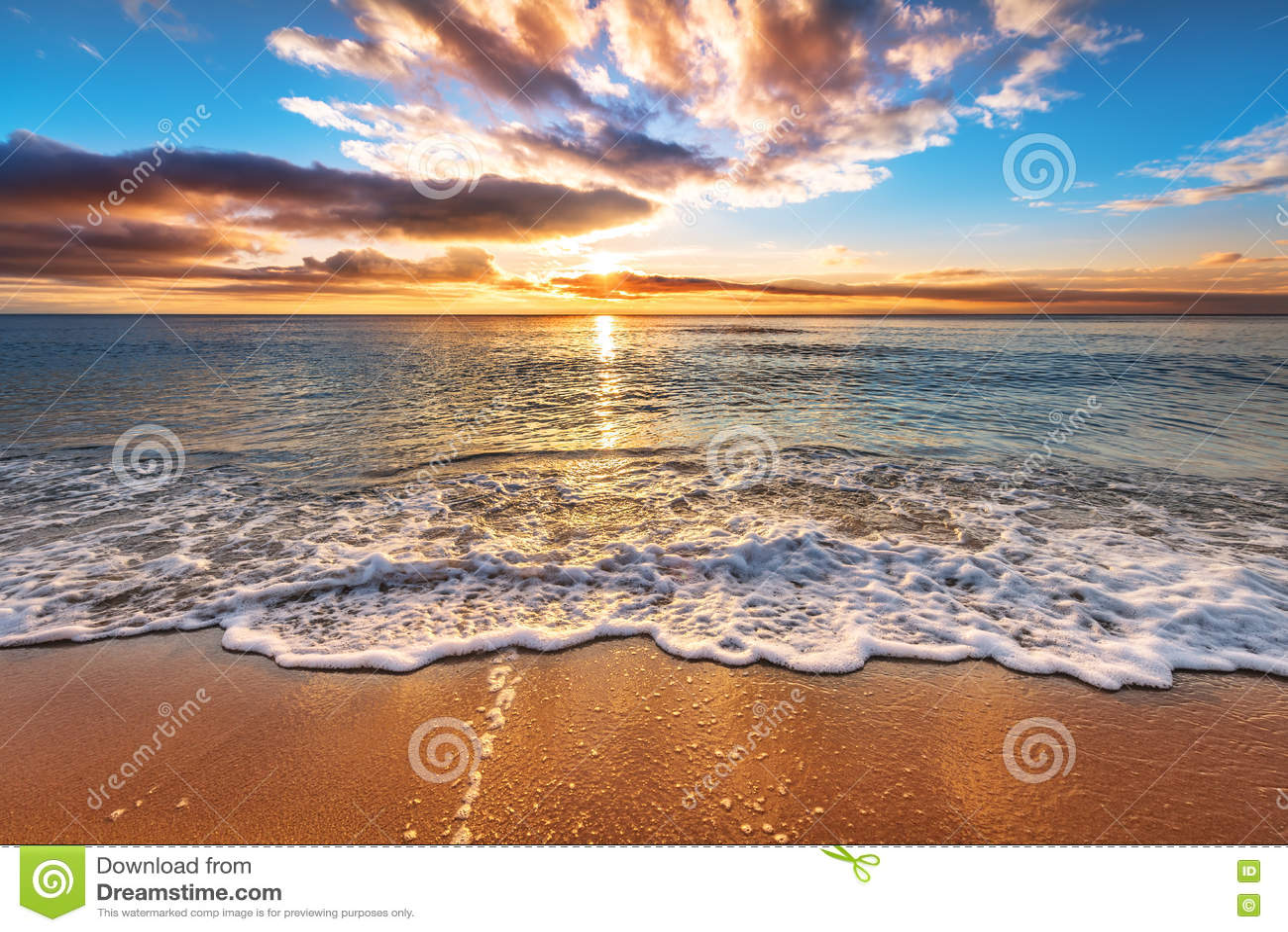 Oceanu plażowy wschód słońca