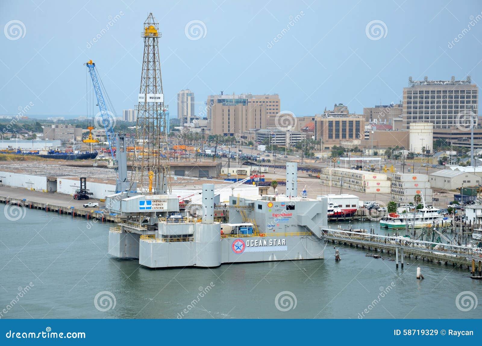 Oceanu Wiertniczego takielunku Gwiazdowy Na morzu muzeum i edukaci centrum