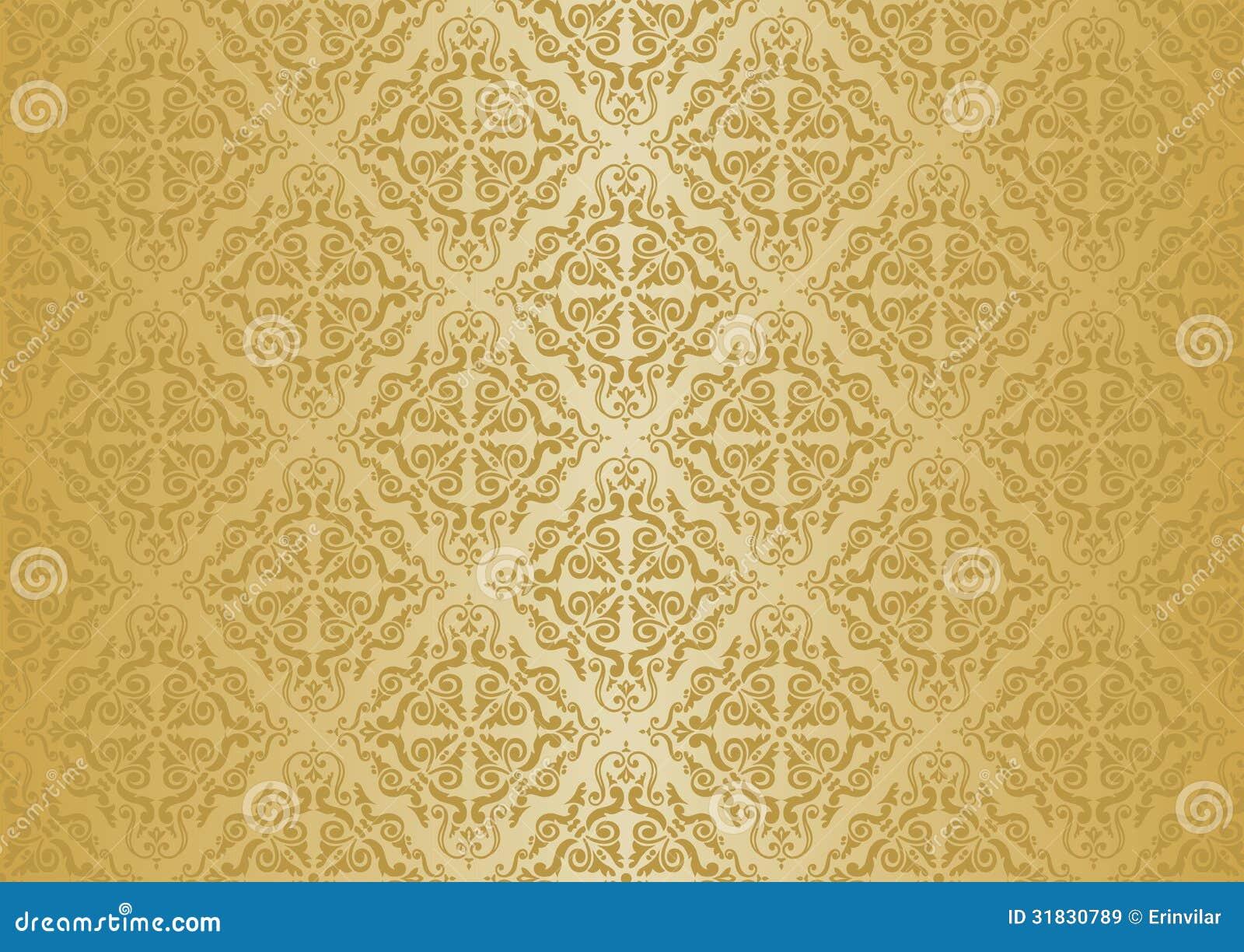 ocher vintage wallpaper stock vector  image of flower