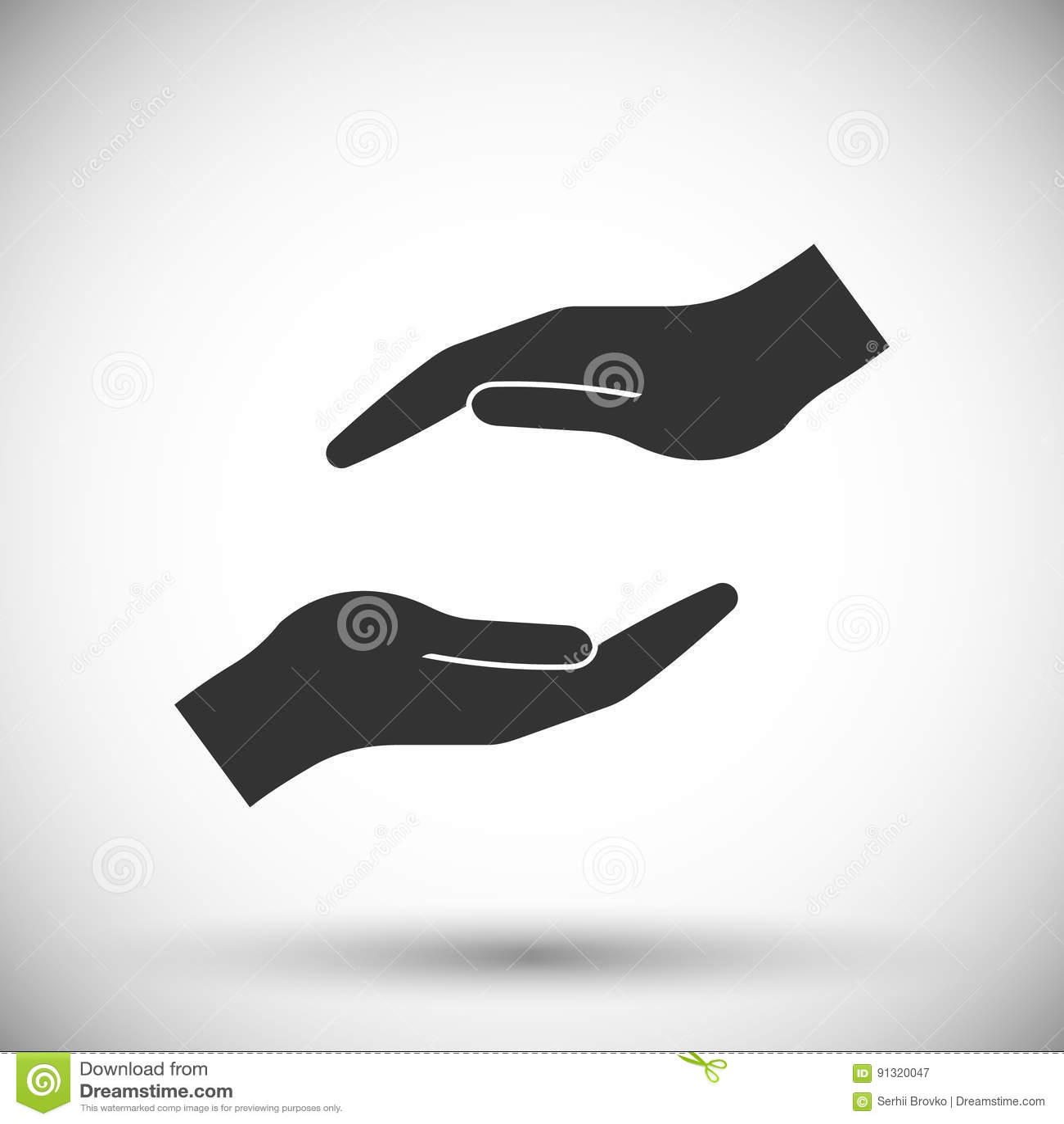 Ochraniać ręki ikonę