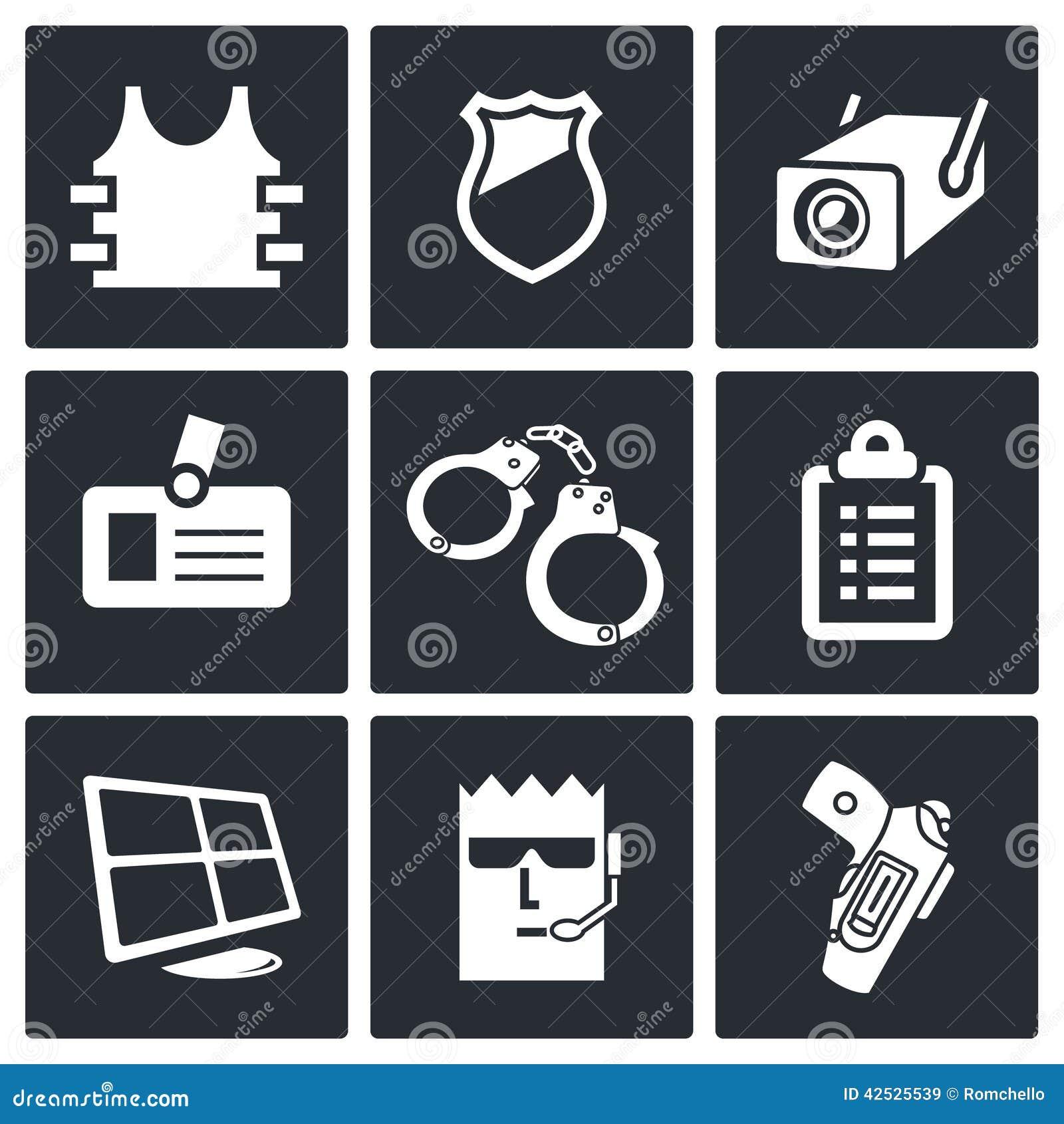 Ochrony ikony kolekcja
