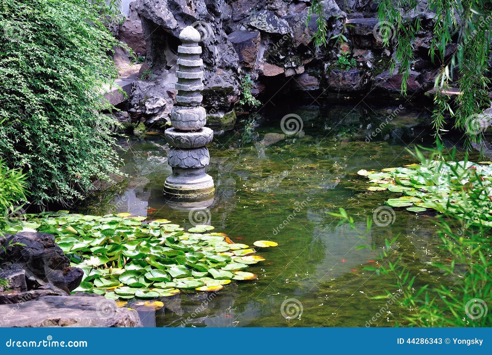 Ociągający się ogródu krajobraz