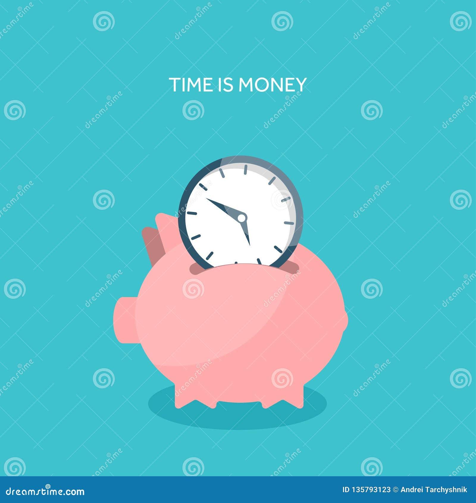 Också vektor för coreldrawillustration Plan sparande pengarbegreppsbakgrund gruppen coins piggy