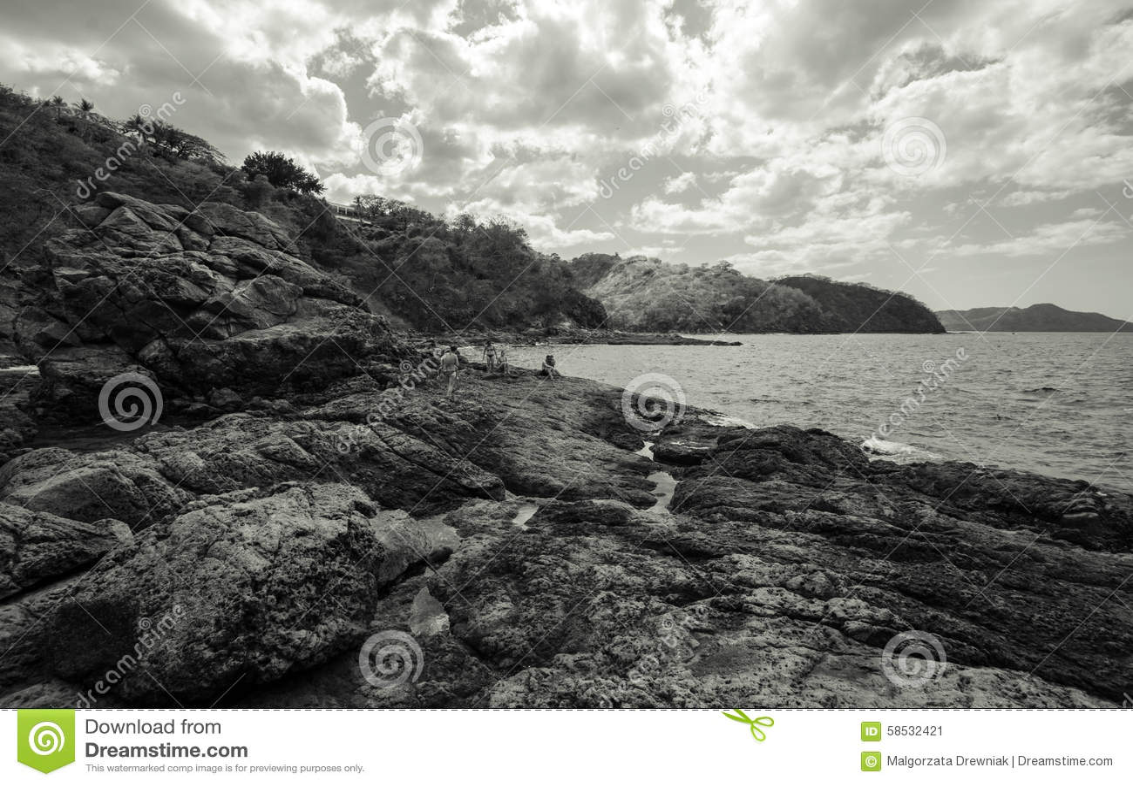 Ocotal beach in guanacaste costa rica editorial photo for Black sand beaches costa rica