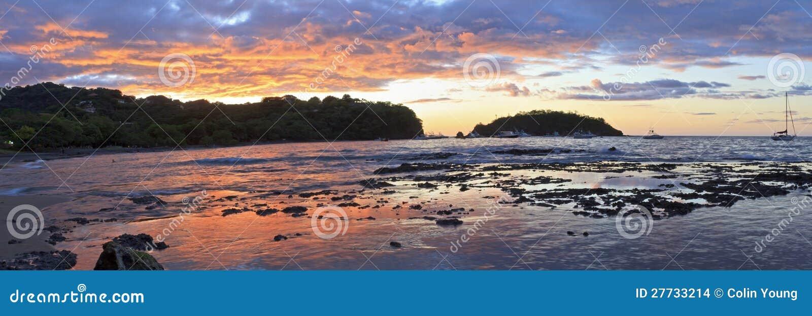 Ocotal Sonnenuntergang-Panorama