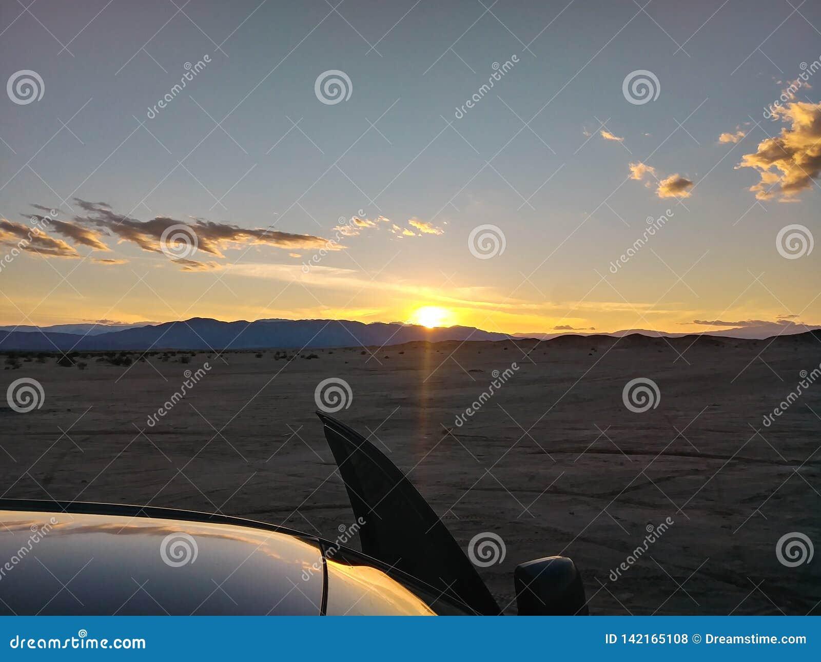 Ocotillo wells sunset.