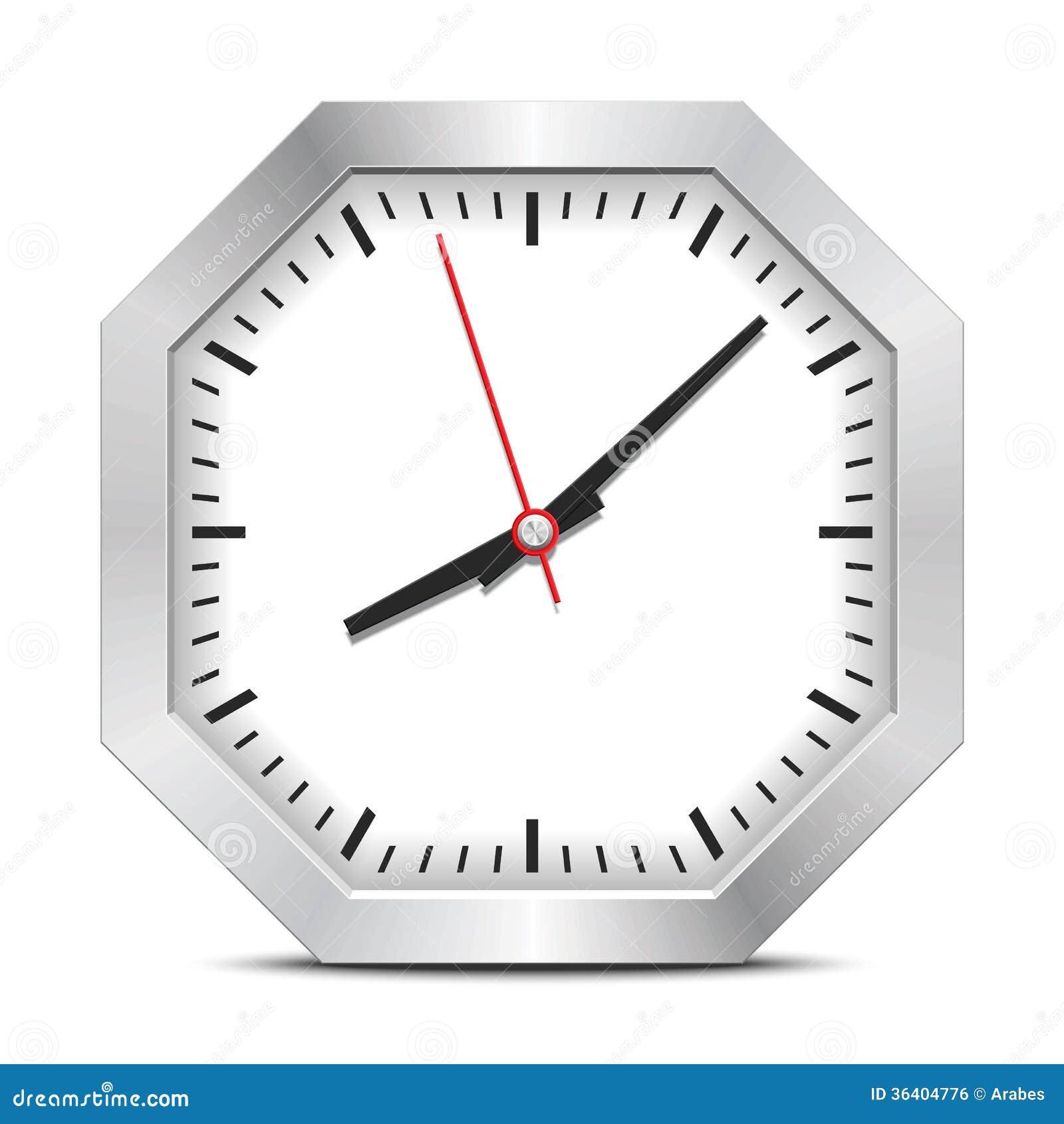 Octagon Clock Royalty Free Stock Image - Image: 36404776