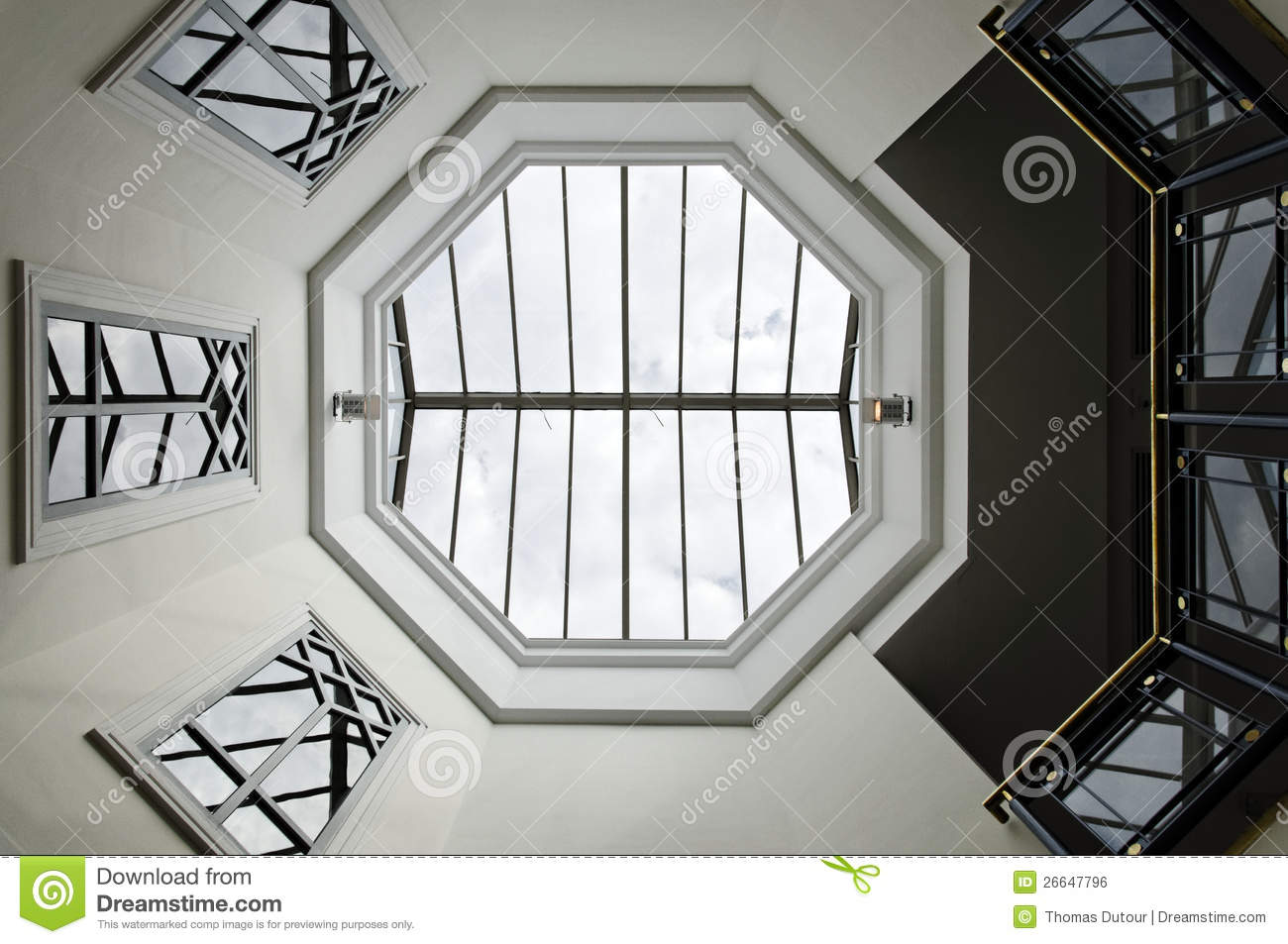 Octagon Glass Ceiling Stock Photo Image Of Architecture