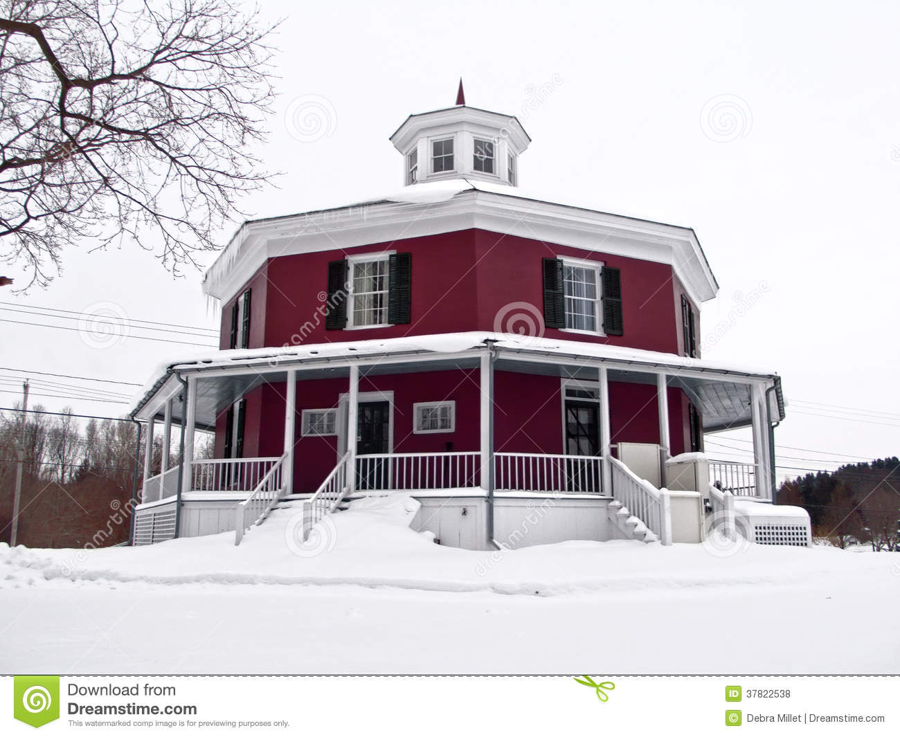 Octagon shaped house royalty free stock photos image for Octagon shaped house plans