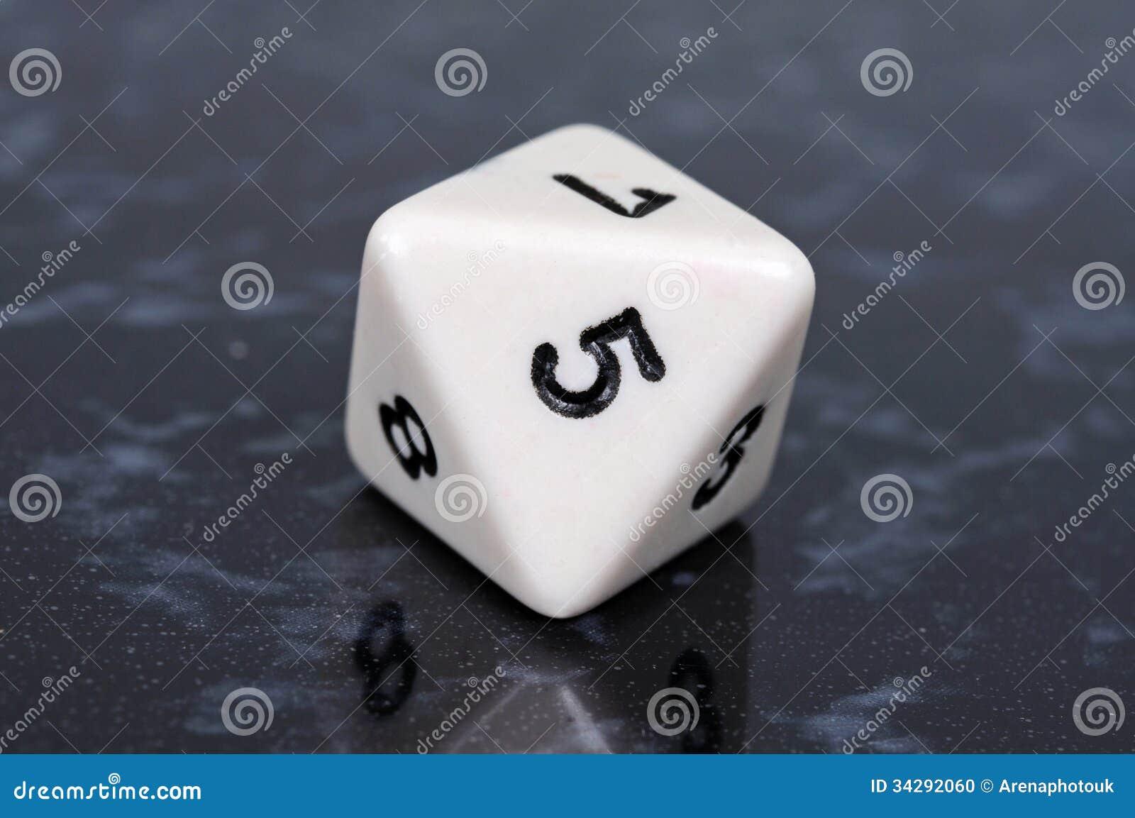 octahedron shaped dice stock photo image 34292060