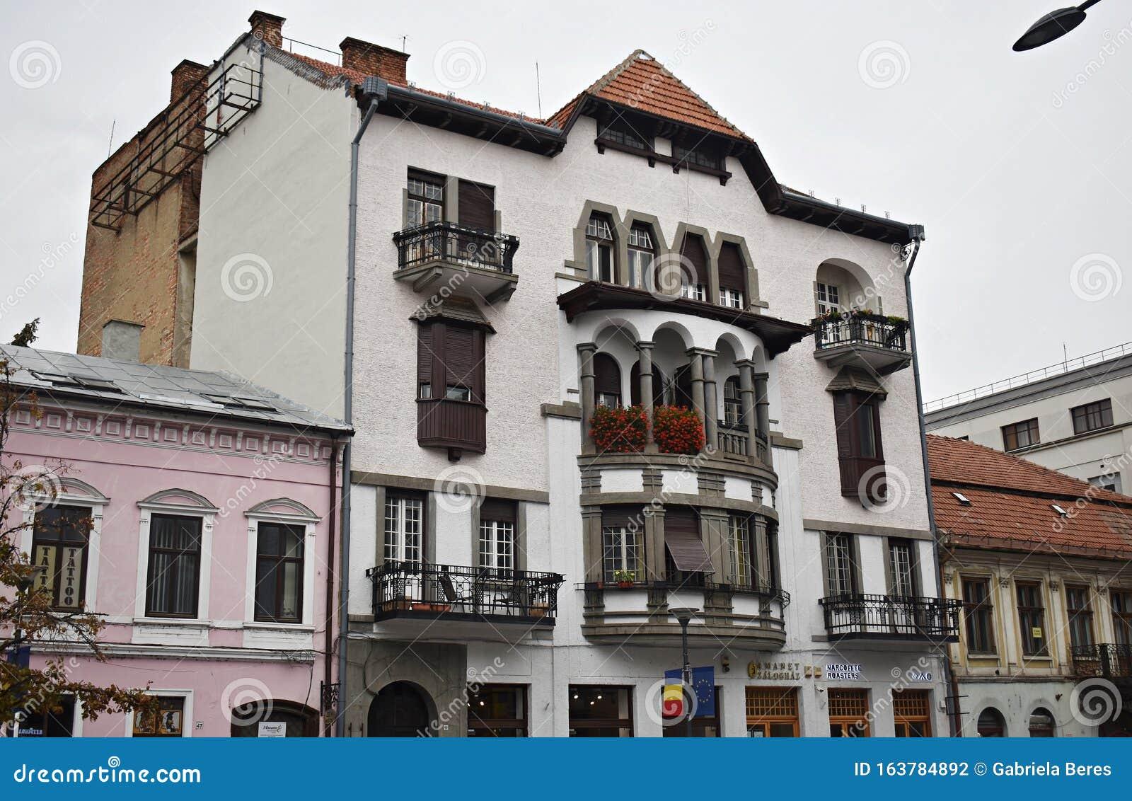 Beautiful Building in Cluj Napoca City Center. Editorial ...