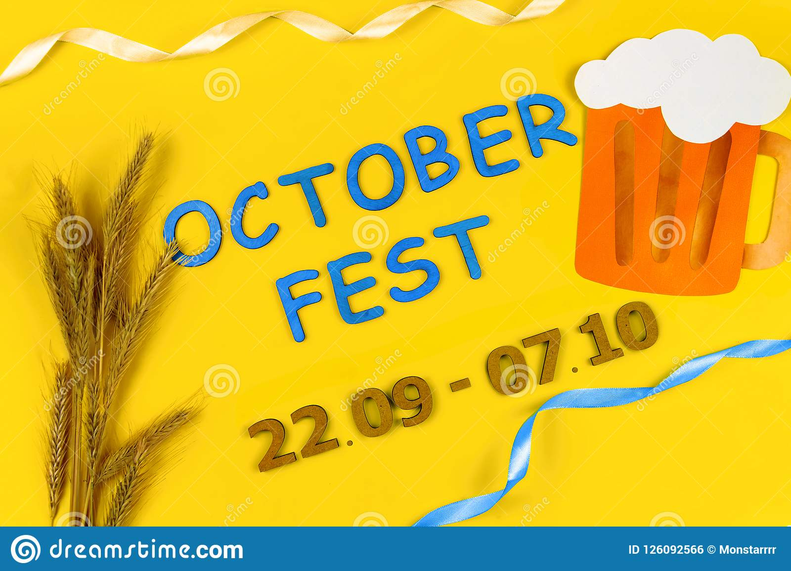 Ads event of october beer festival in autumn october month