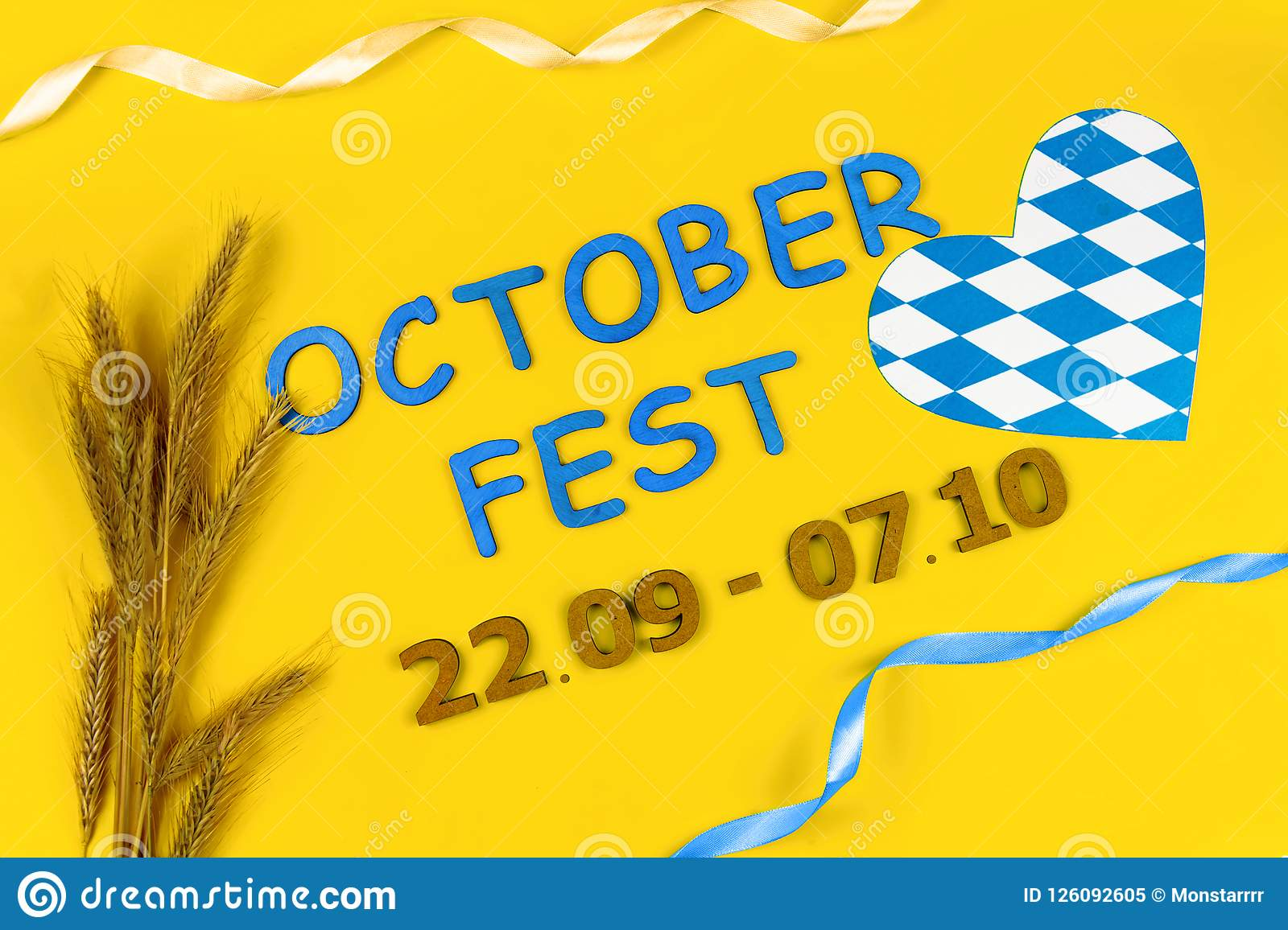 Ready for october beer festival in autumn october month in germany