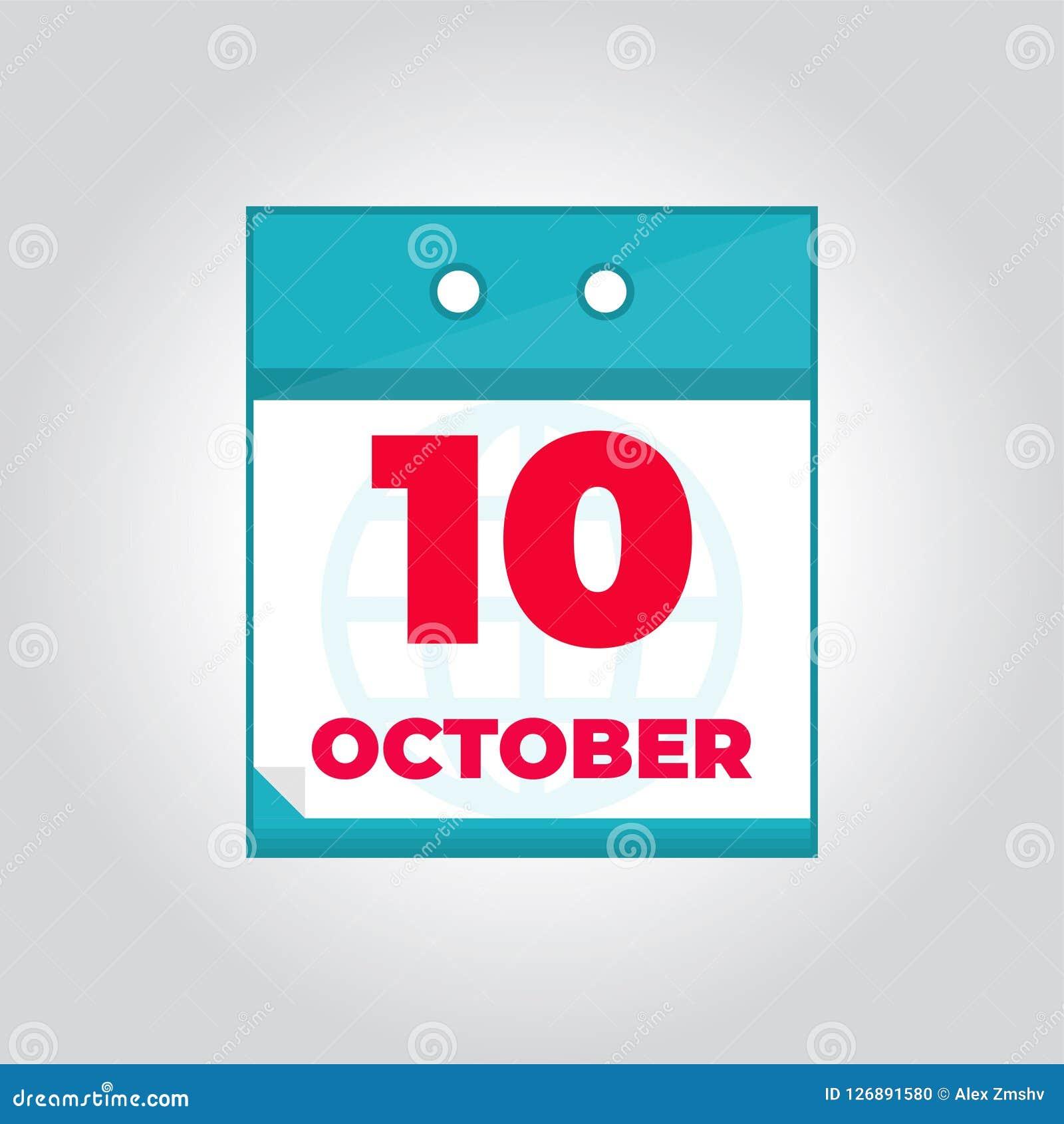 daily calendar october 2019