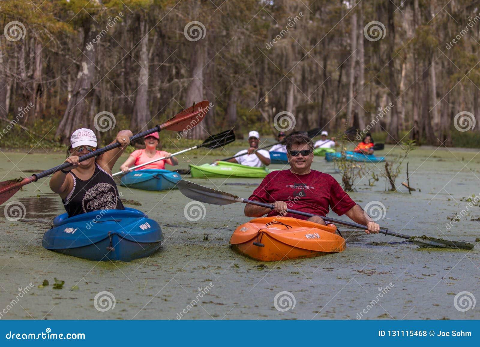 Kayaking In Cajun Swamp & Lake Martin, Near Breaux Bridge And La