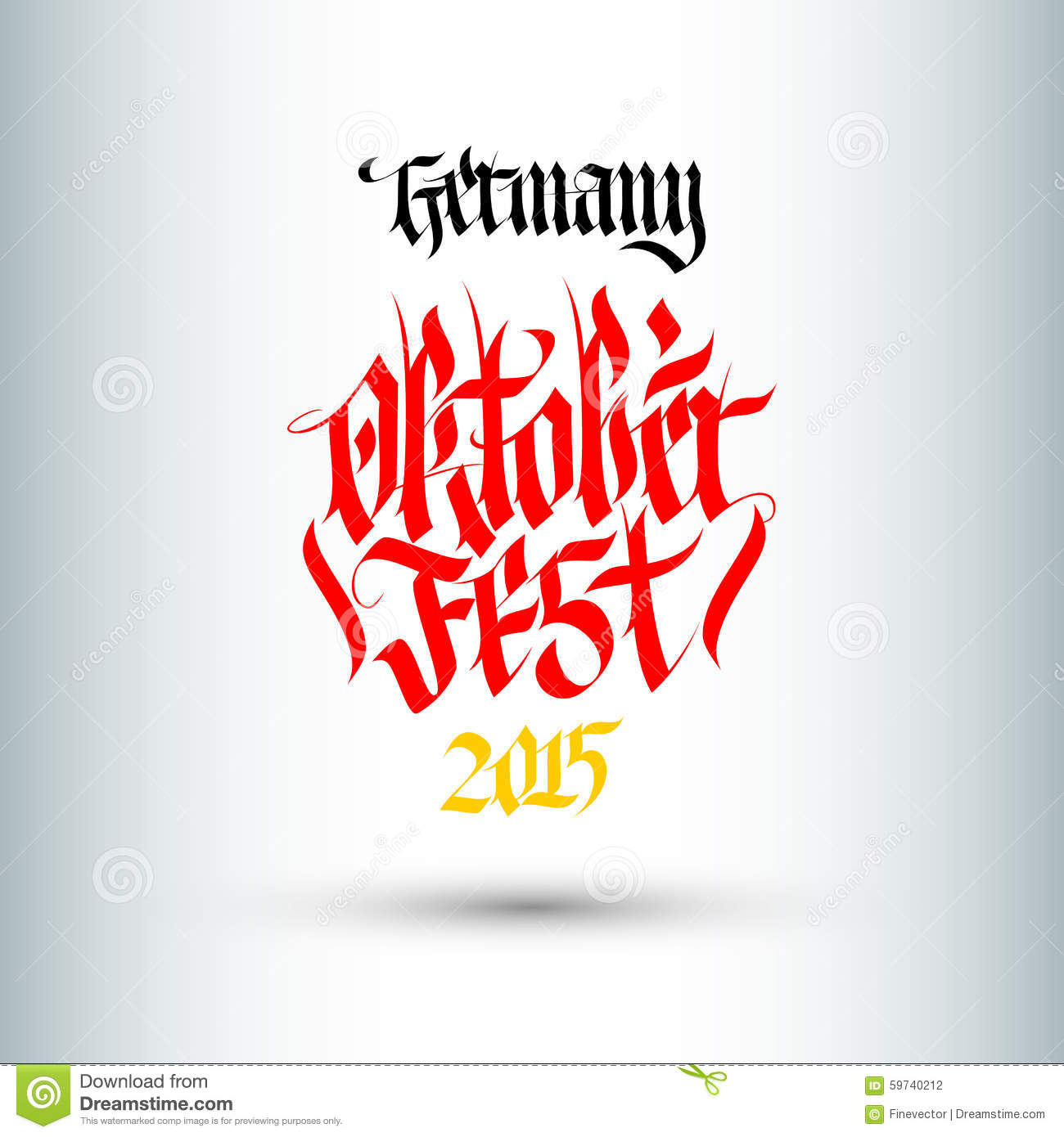 Octoberfest. Holiday Vector Illustration With Lettering Composition.