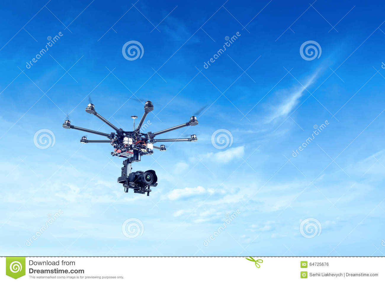 Octocopter, elicottero, fuco