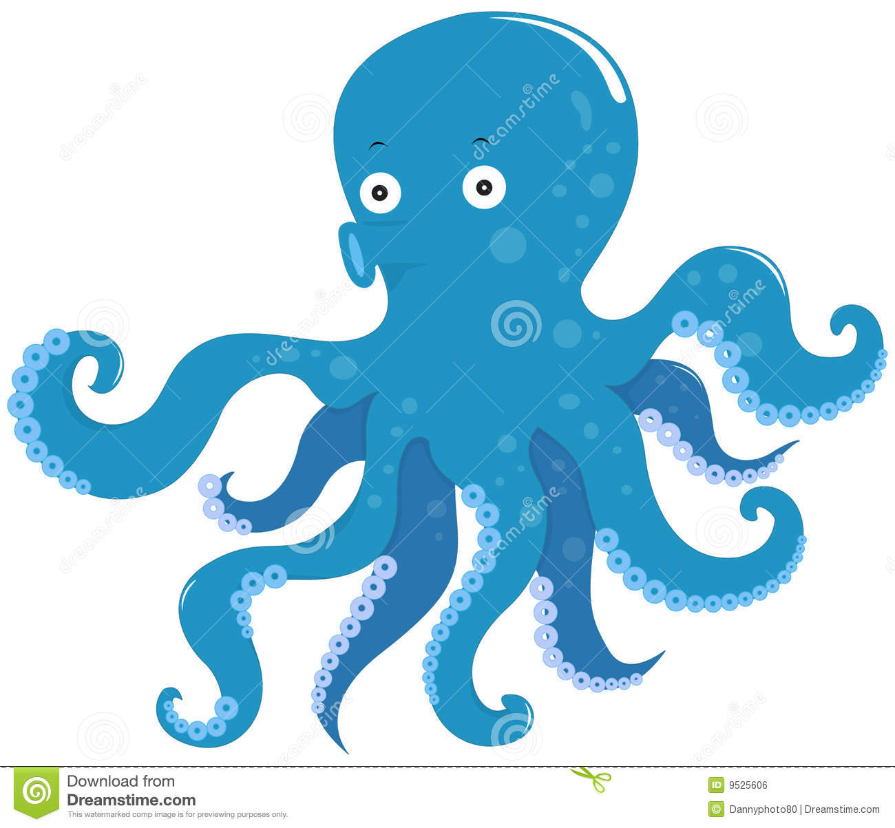 Octopus royalty free stock image image 9525606 for Octopus in cartoon