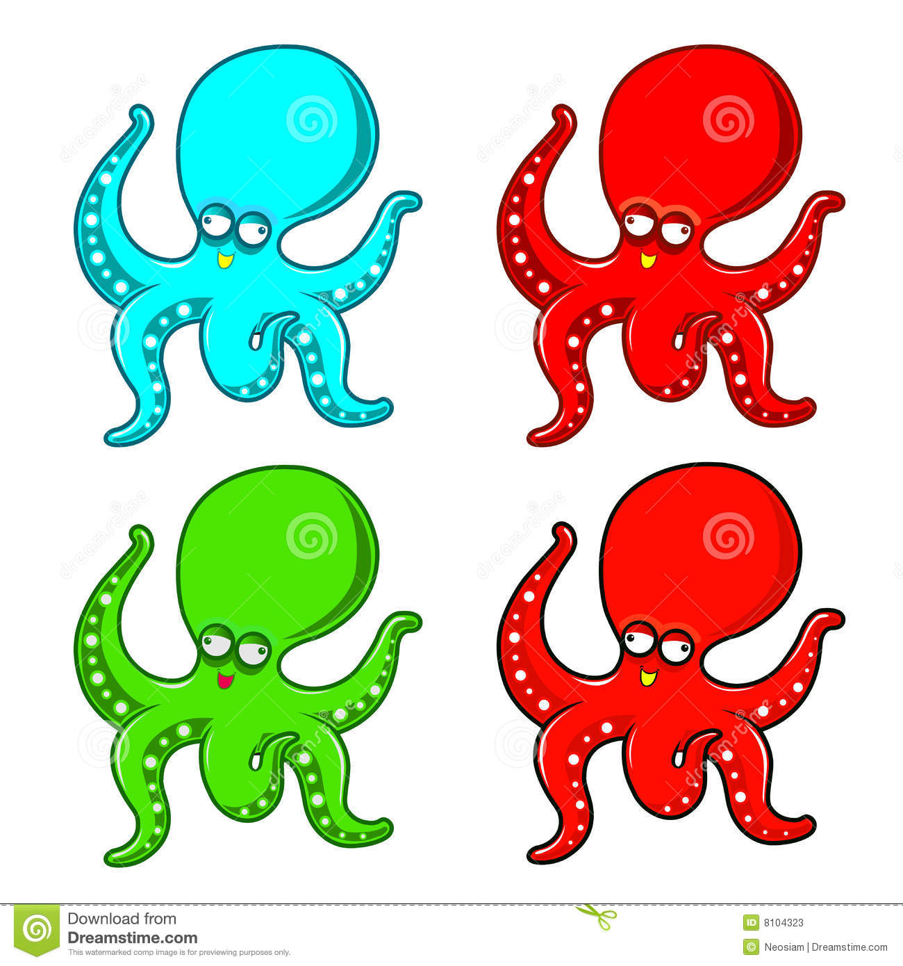 Octopus Cartoon Stock Photos - Image: 8104323