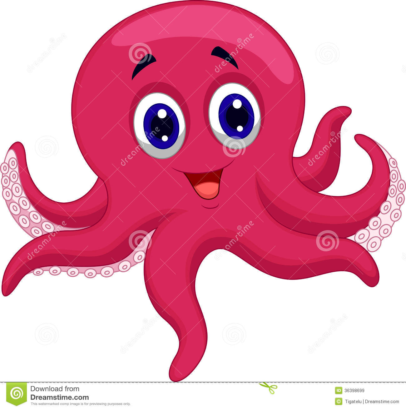 Octopus cartoon royalty free stock images image 36398699