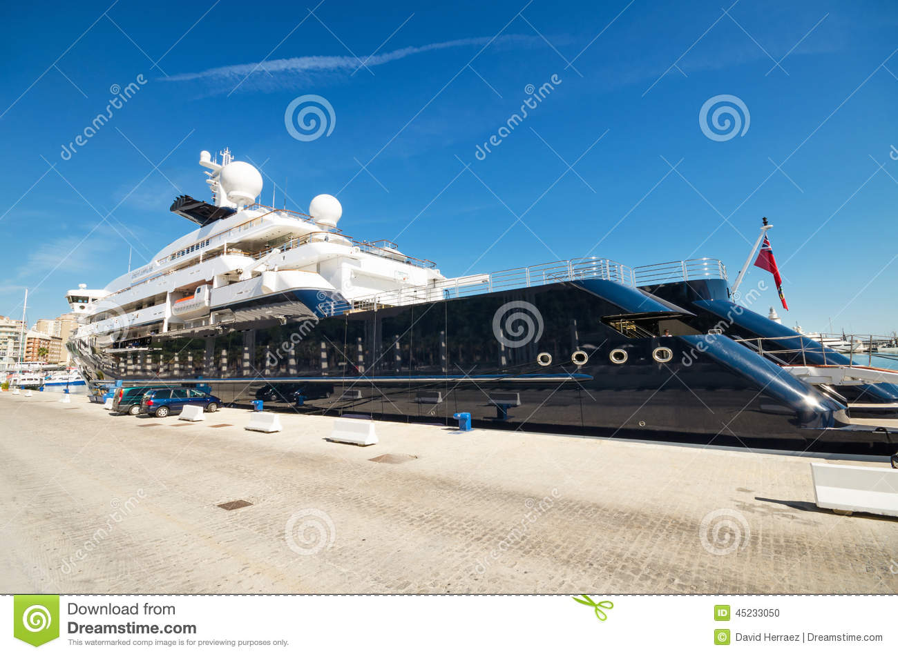 Octopus Luxury Yacht At Malaga Port On April 30 2014 Editorial