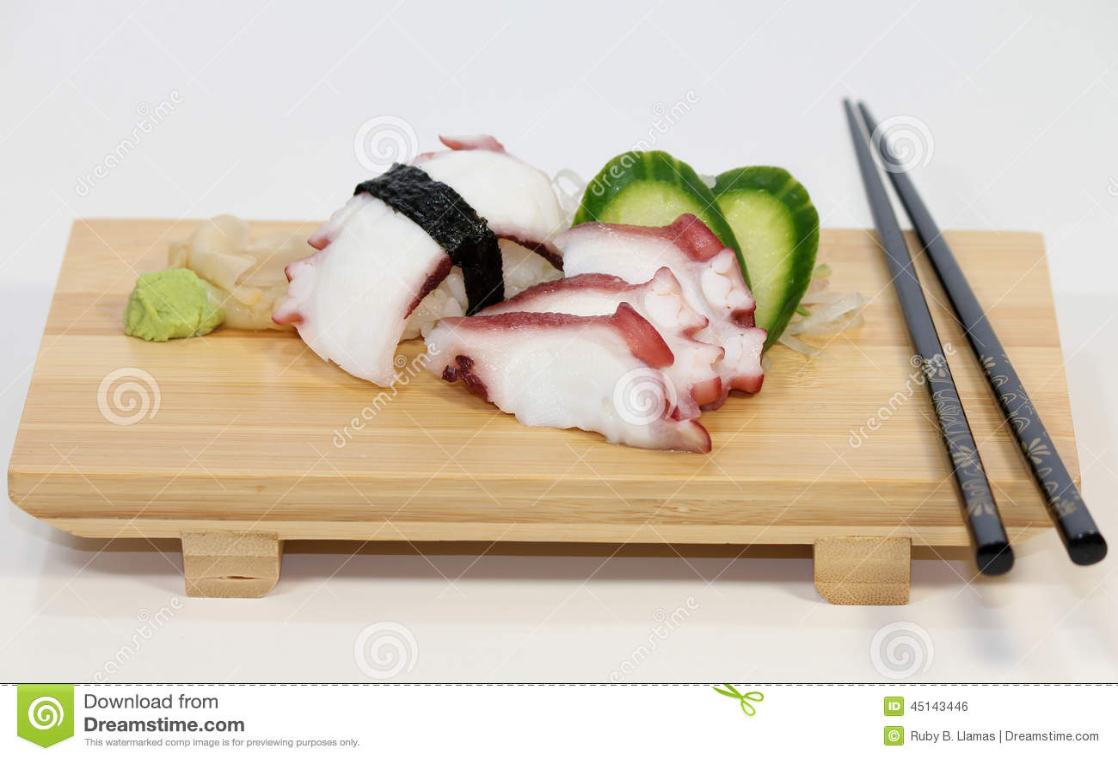 Octopus (Tako) Sushi
