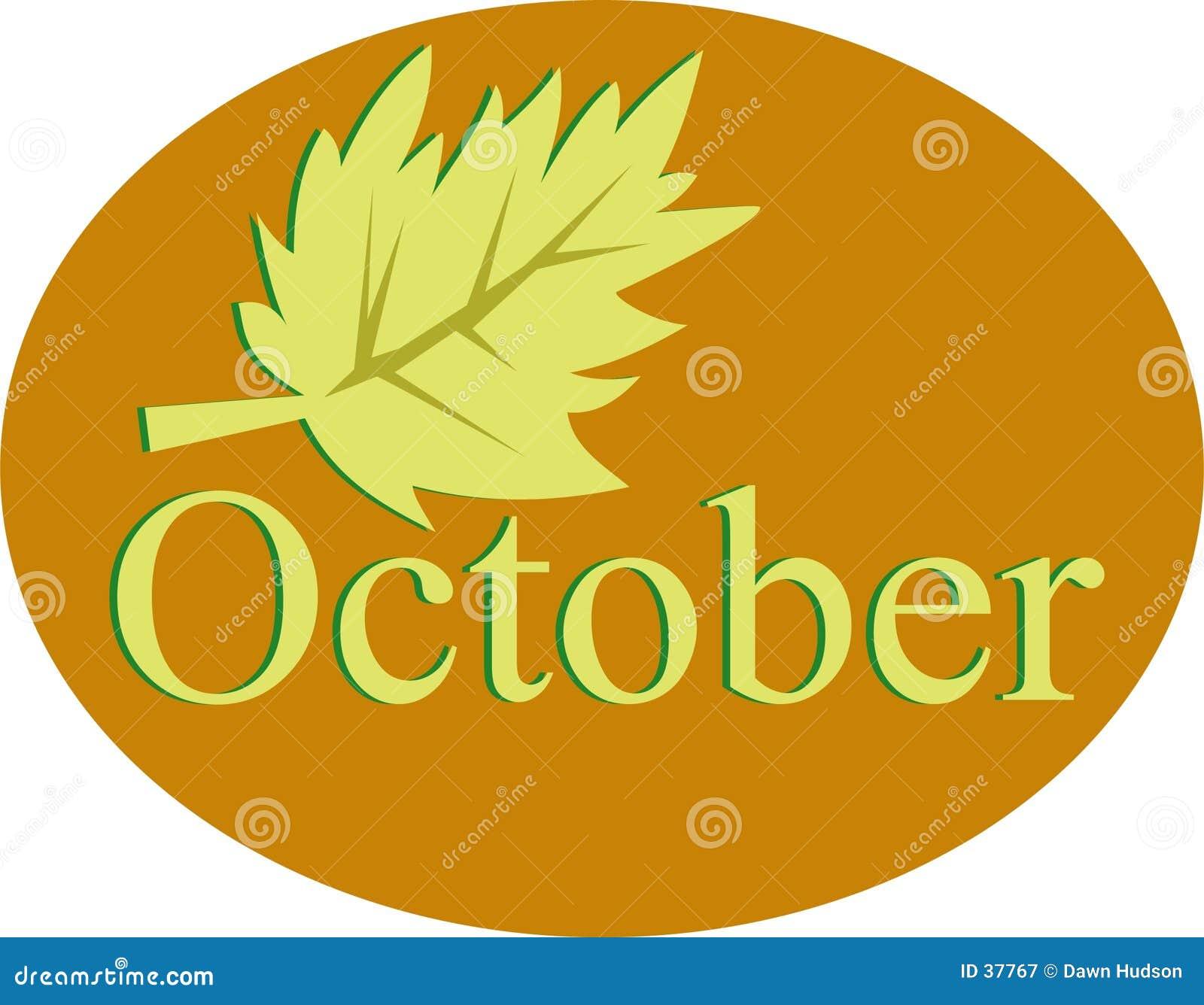 Download Octubre ilustración del vector. Ilustración de tiempo, hoja - 37767