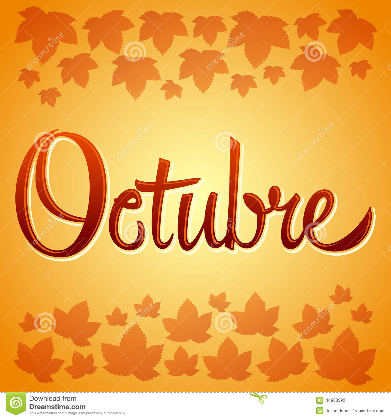 octubre october spanish vector sign stock vector image time travel clipart clock with human eye Time Travel Background