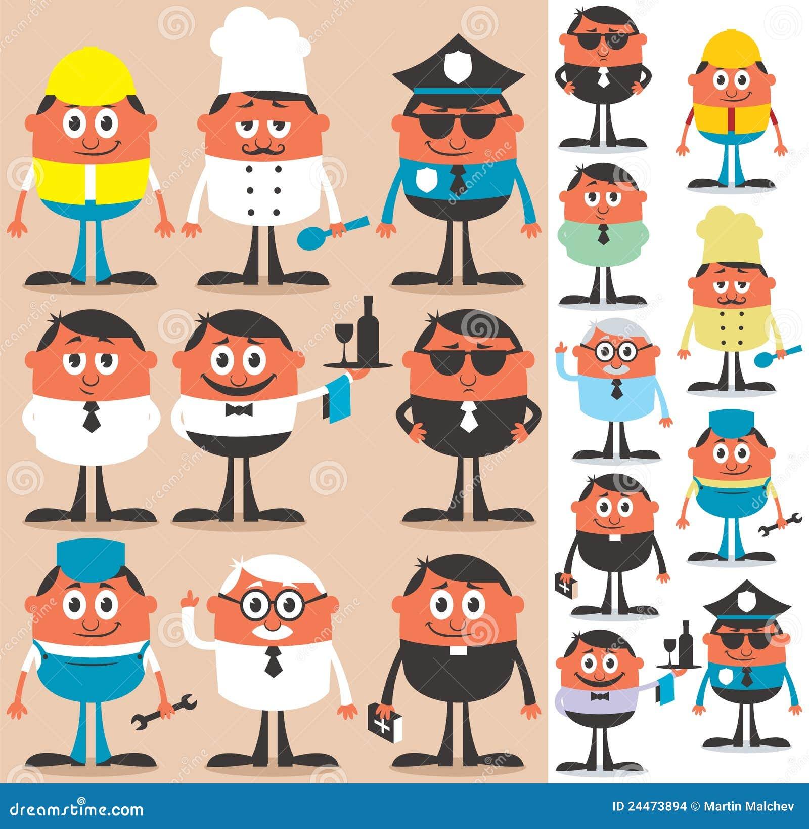 Ocupaciones Ilustración Del Vector Ilustración De Fondo