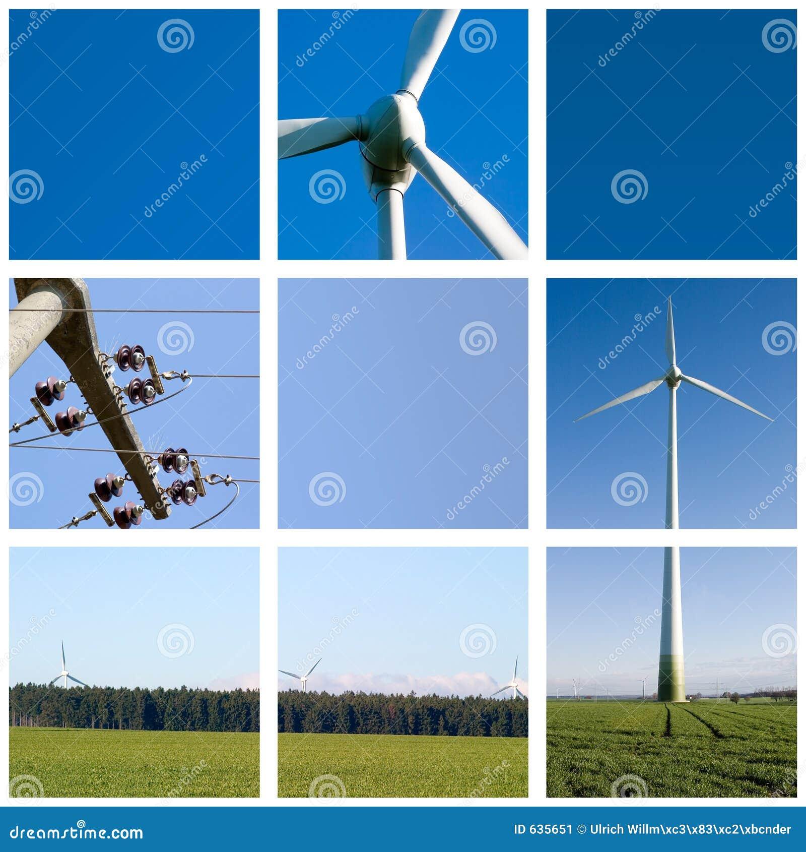 Oczka sieci energii wiatru