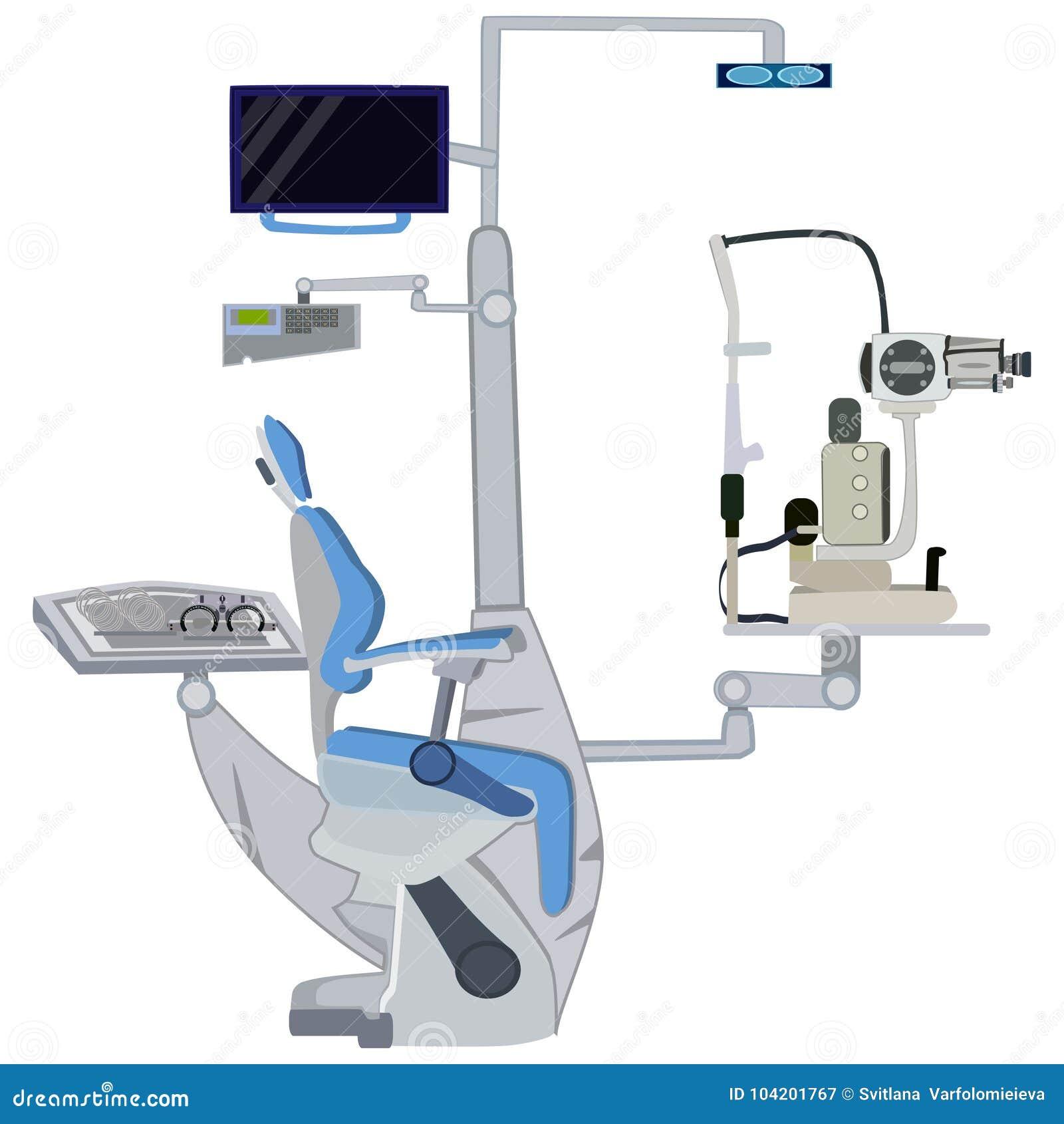 Ocznego wyposażenia wektorowa płaska ilustracja