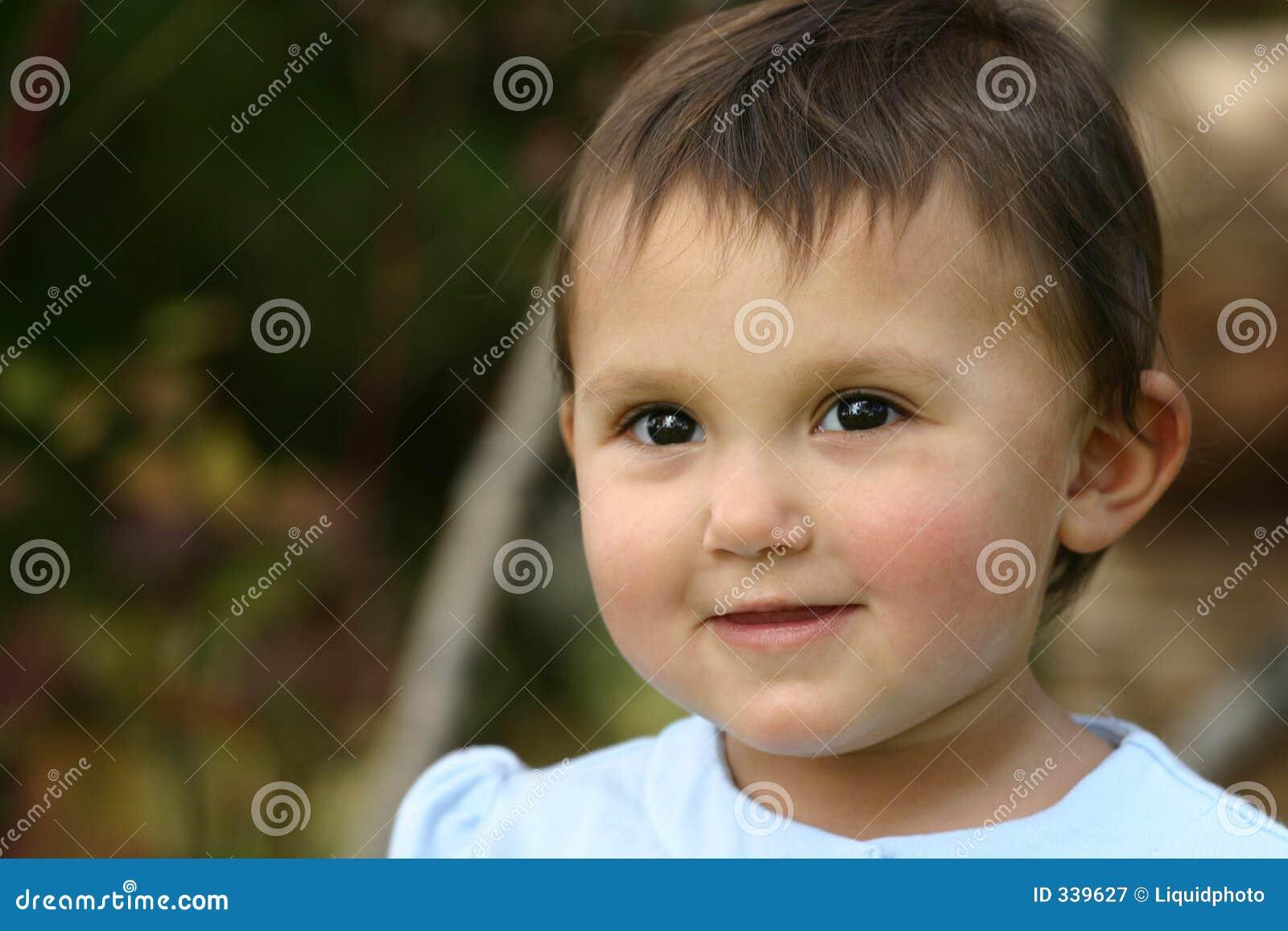 Oczy dziecka dziewczyna berbecia