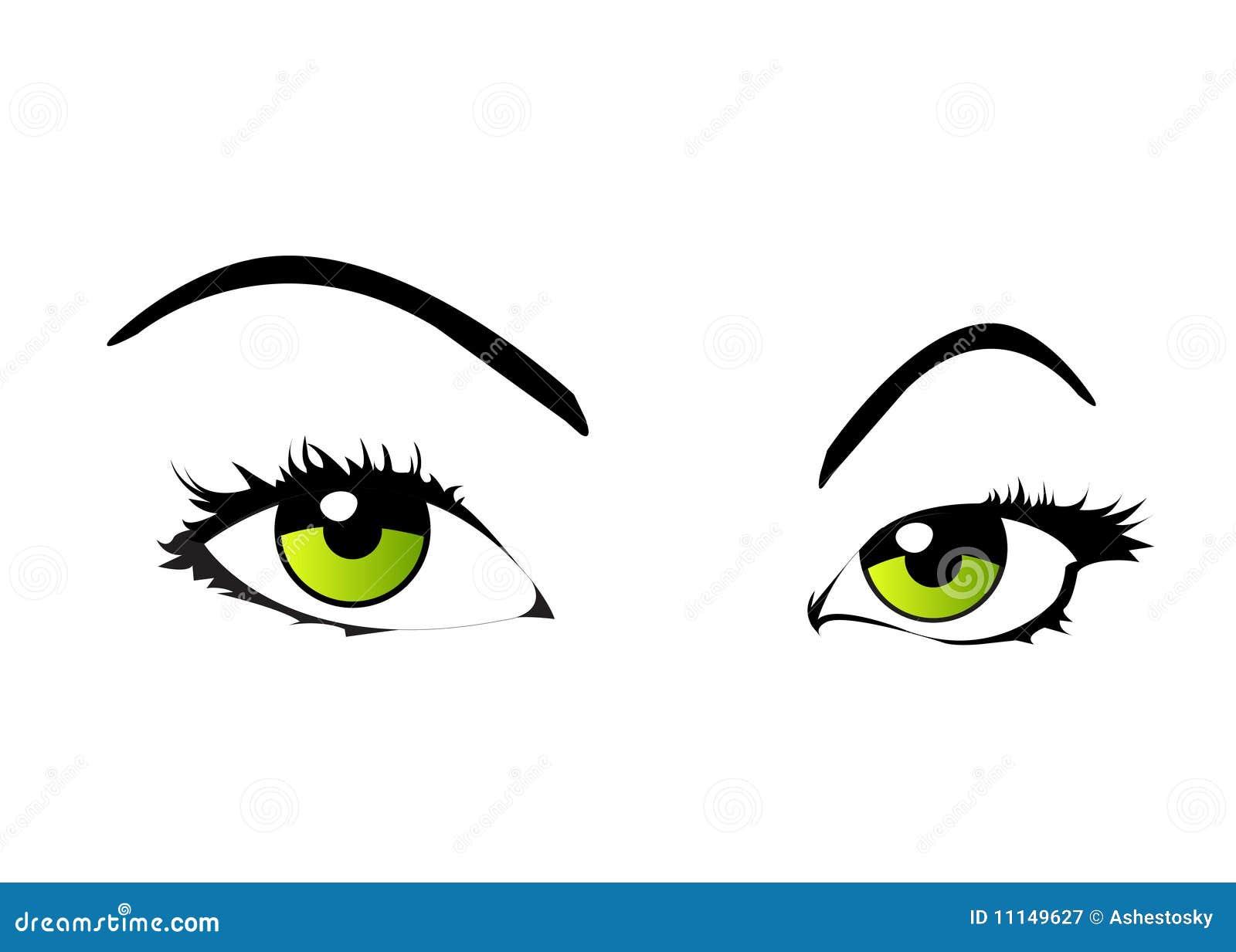 Oczy odizolowywająca wektorowa kobieta