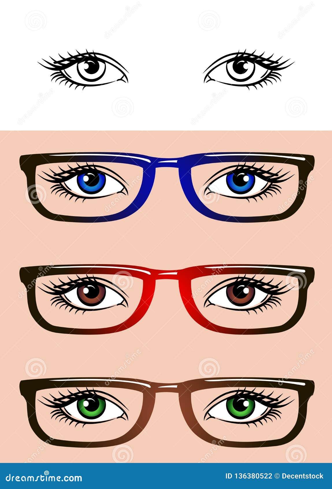 Oczy odizolowywający na białym tle