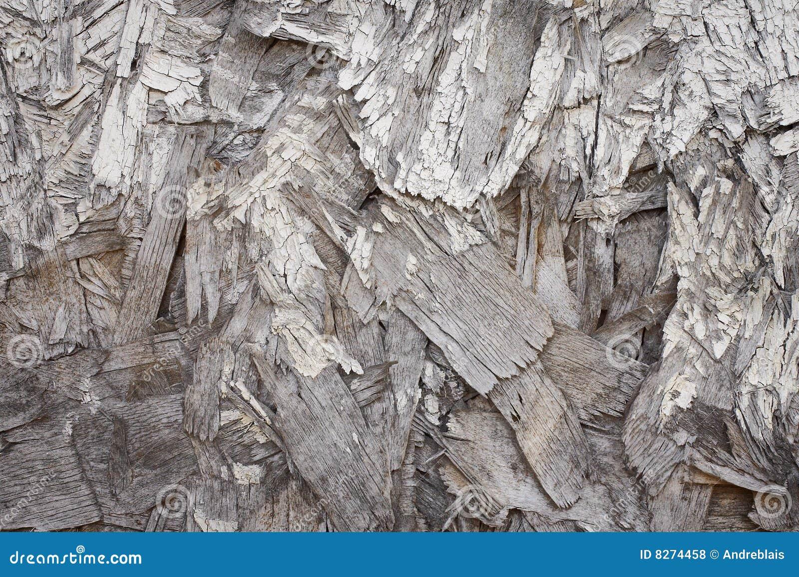 Odłupany tła drewno