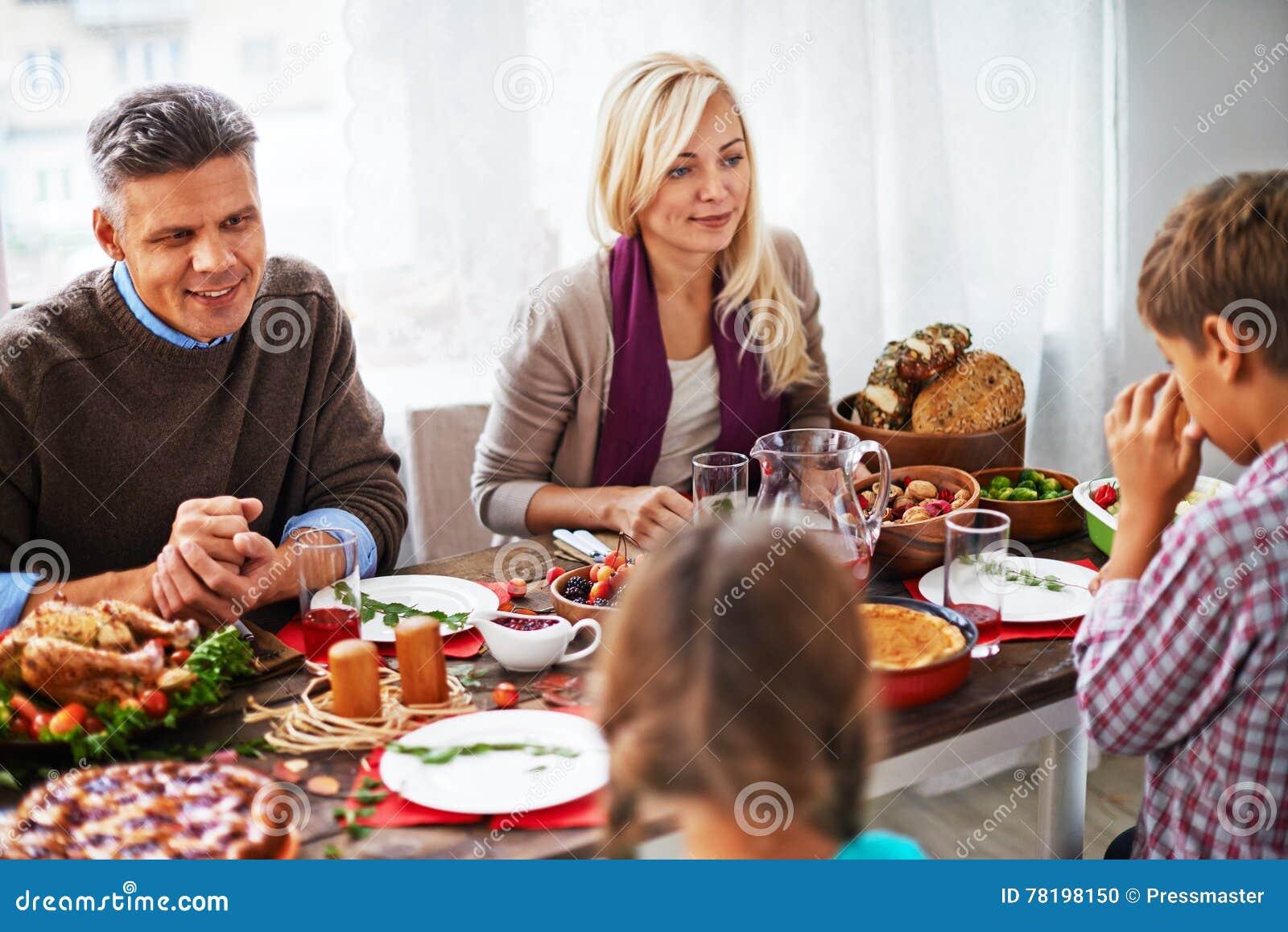 Odświętności dziękczynienia dzień z rodziną