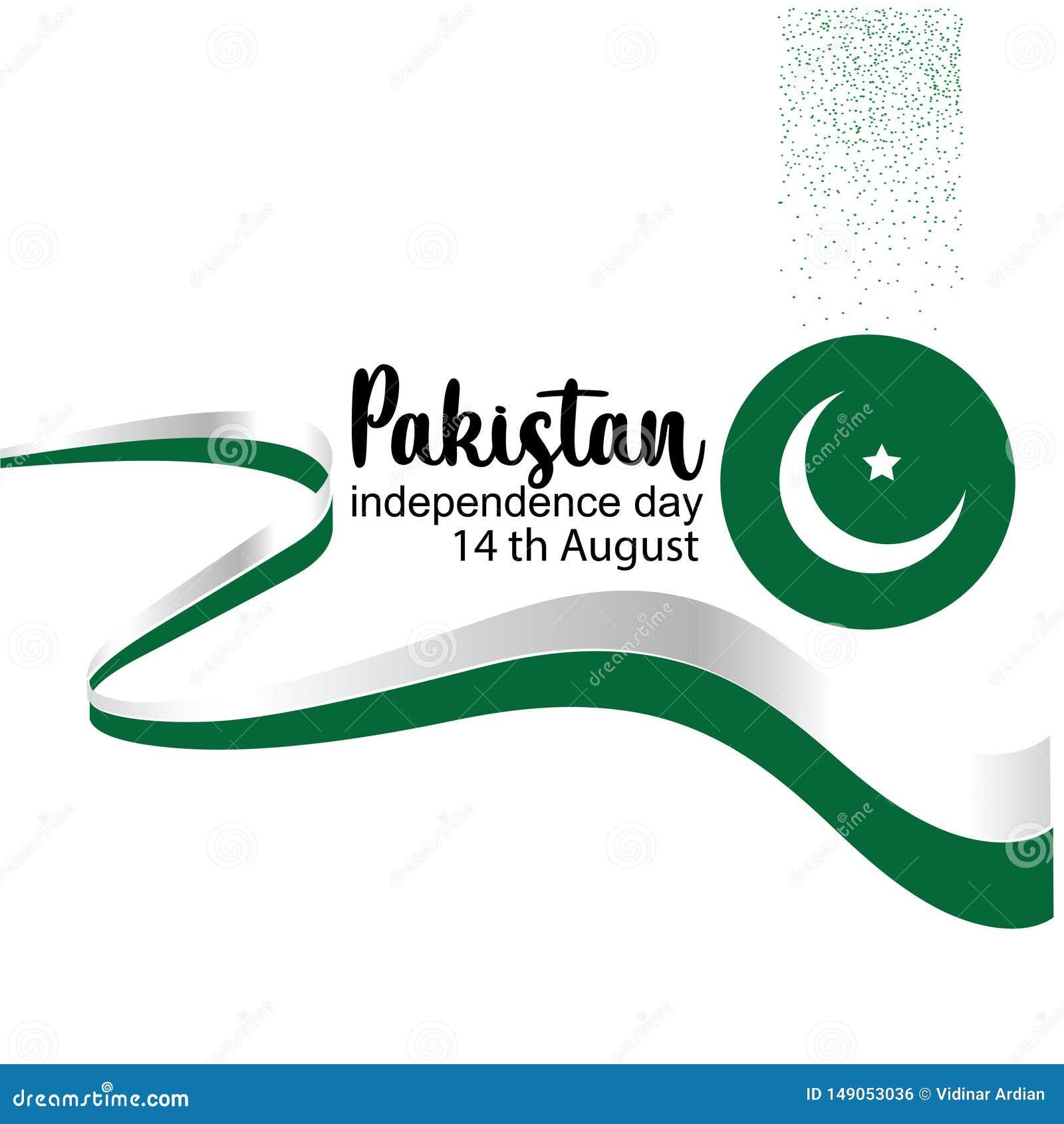 Odświętności Pakistan dnia niepodległości kreatywnie wektorowa ilustracja 14th Sierpniowa Pakistan niezależność wektor