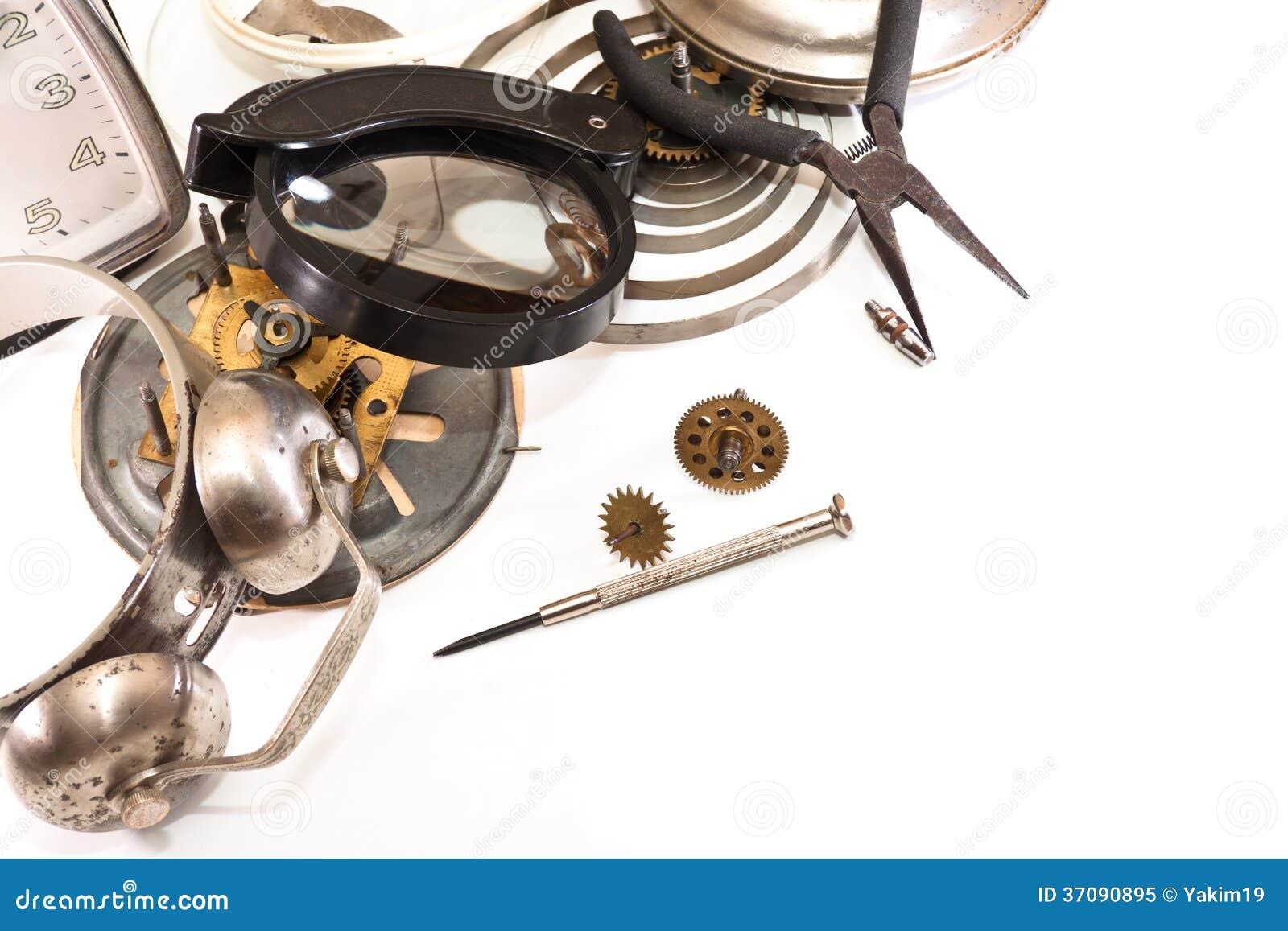 Download Odświeżanie stary zegar obraz stock. Obraz złożonej z officemates - 37090895