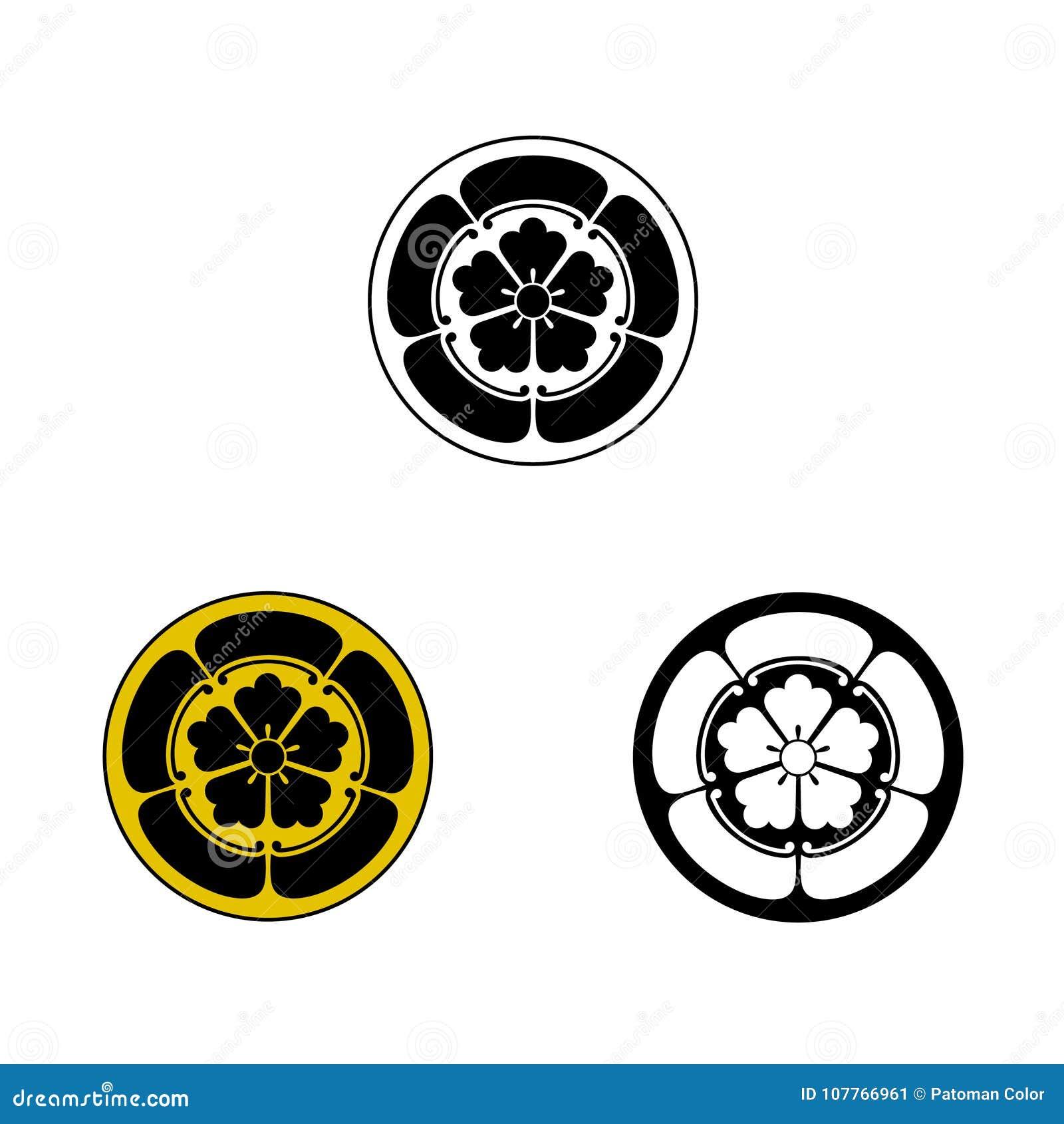 Oda Samurai Crest Stock Illustration Illustration Of Graphic