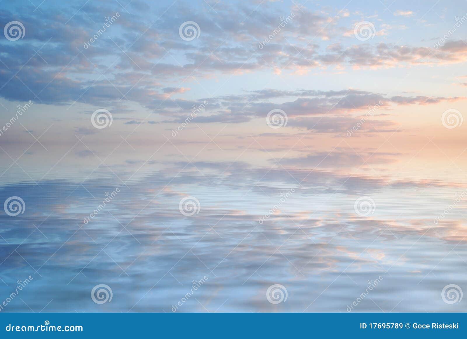 Odbicia nieba woda