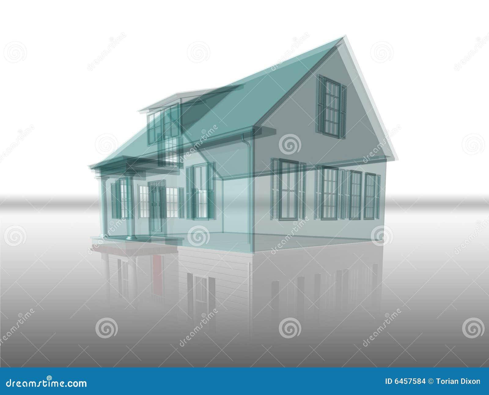 Odbicie przejrzysty w domu