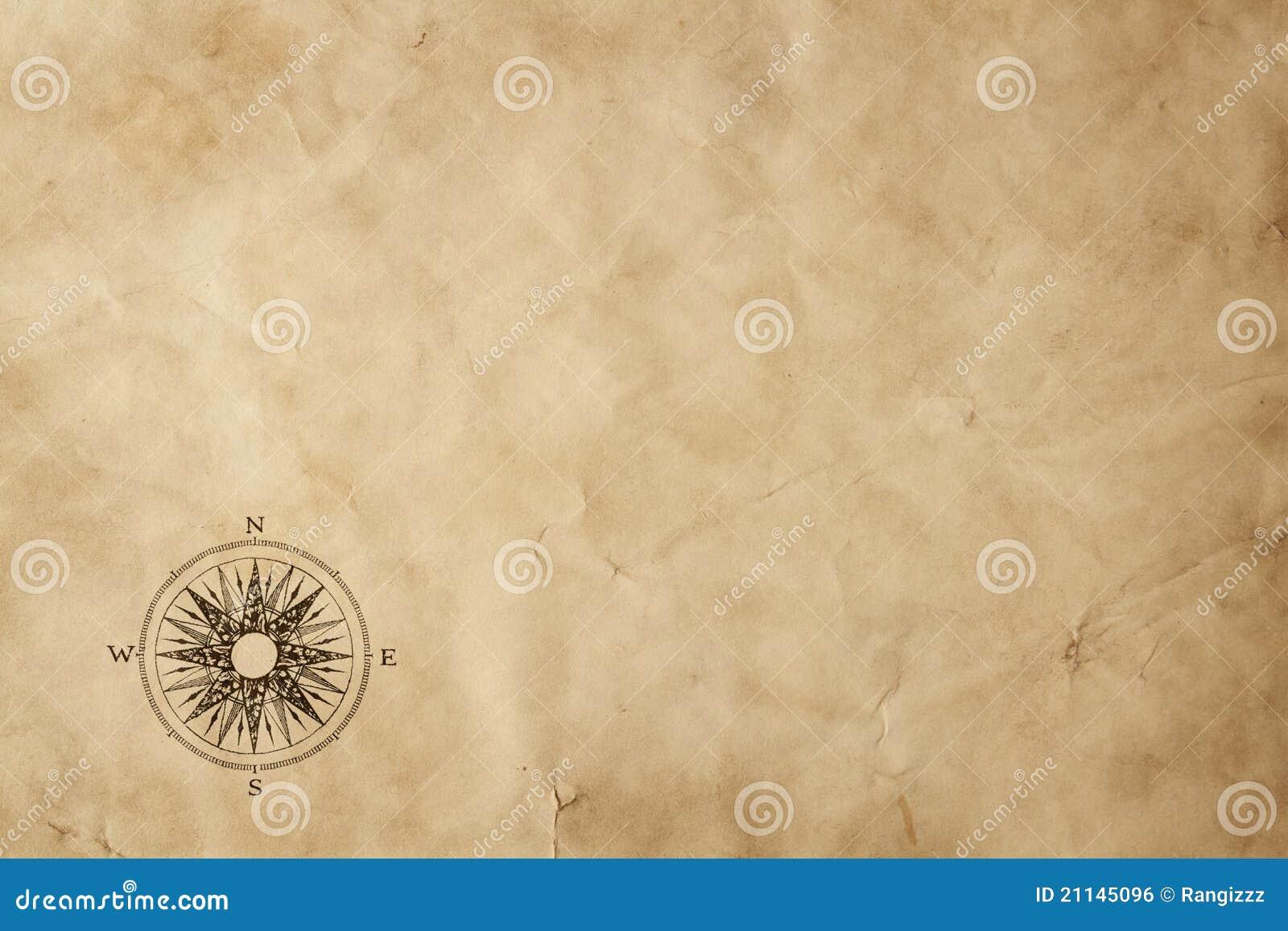 Odbitkowego grunge stary papieru przestrzeni windrose