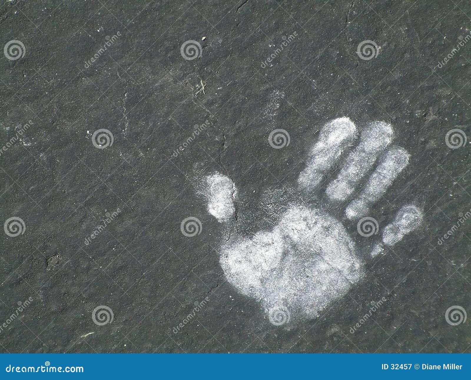 Odcisk dłoni kredowy