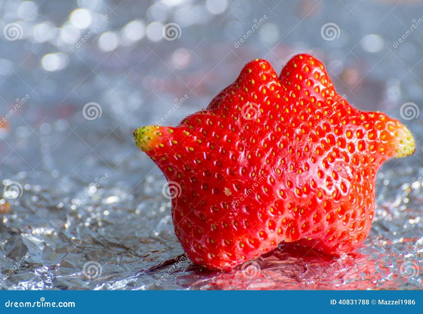 Odd Shaped Strawberry