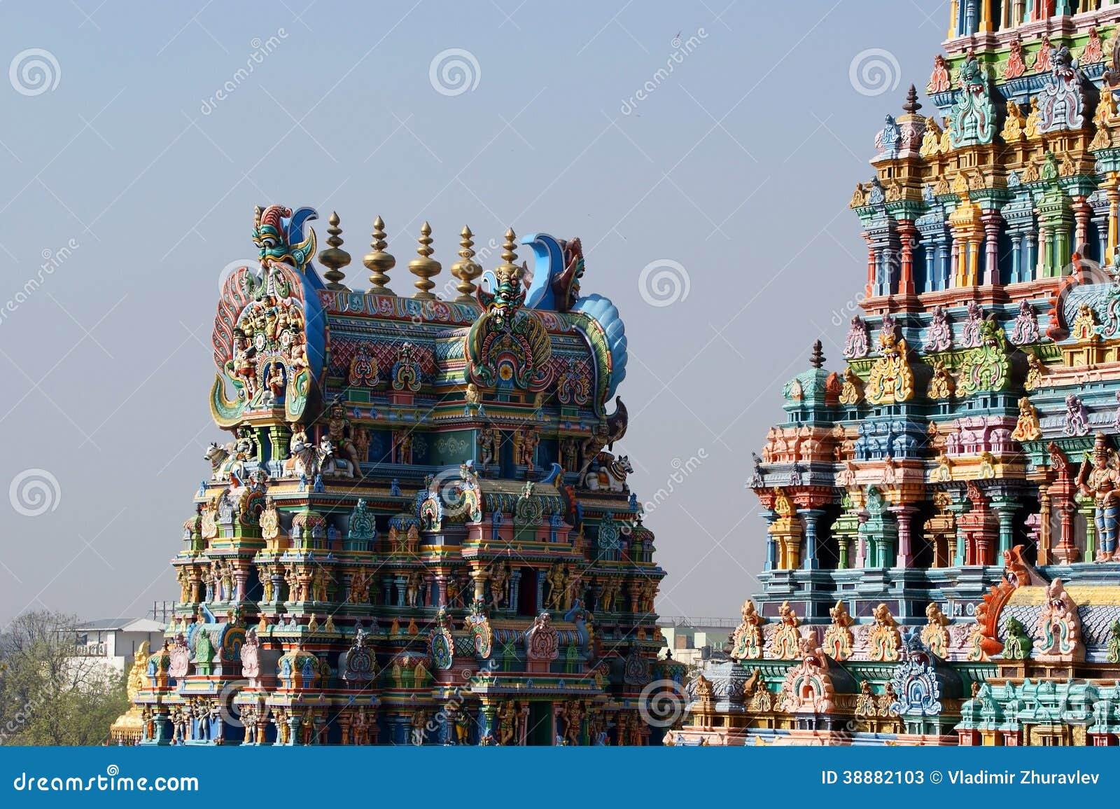 Oddanego gopura hinduski ind władyki Madurai meenakshi nadu jeden inna rzeźb południowa sundareswarar tamila świątynia target2128